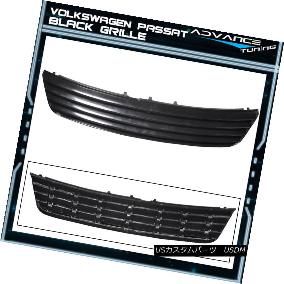 グリル For 97-00 Volkswagen Passat Mesh Sport Grille Grill Brand New - Black 97-00フォルクスワーゲンパサートメッシュスポーツグリルグリルブランニュー - ブラック
