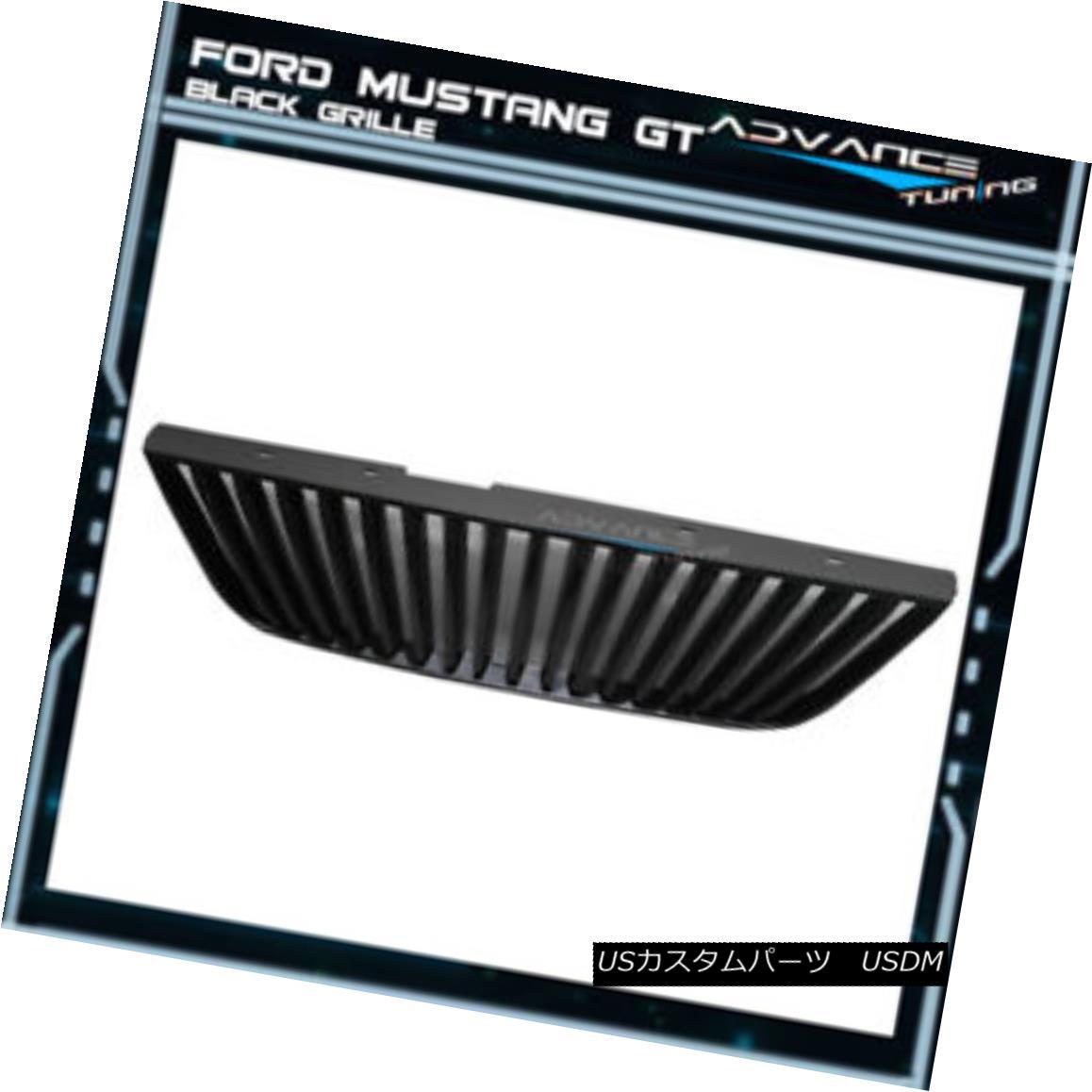 グリル For 99-04 Ford Mustang GT V6 V8 VERTICAL Black Grille New 99-04用フォードマスタングGT V6 V8垂直ブラックグリル