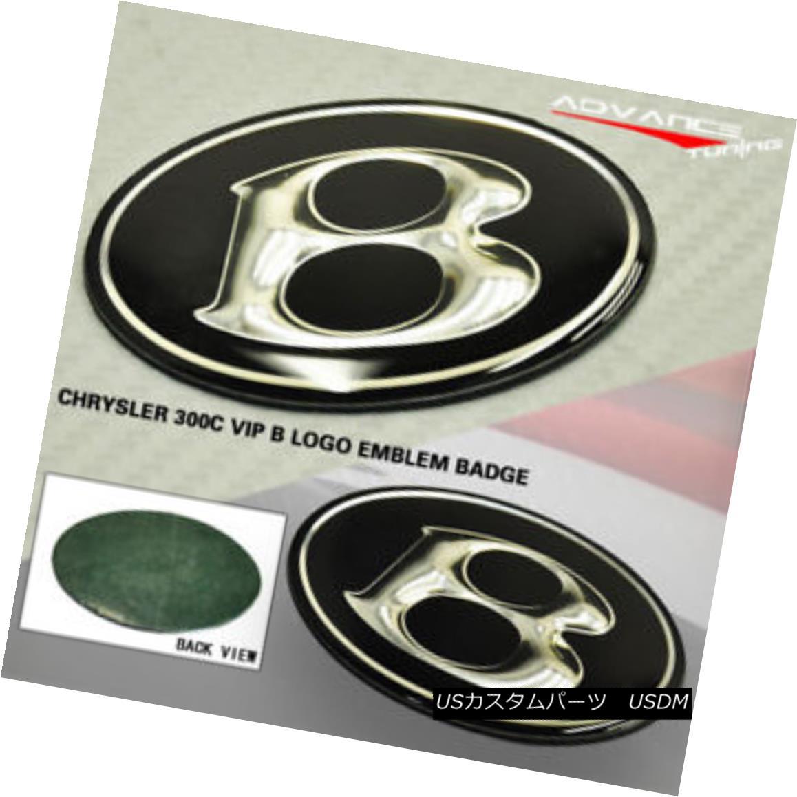グリル Fits 05-10 Chrysler 300C VIP Front Center Grille Grill Super B Emblem Black フィット05-10クライスラー300C VIPフロントセンターグリルグリルスーパーBエンブレムブラック