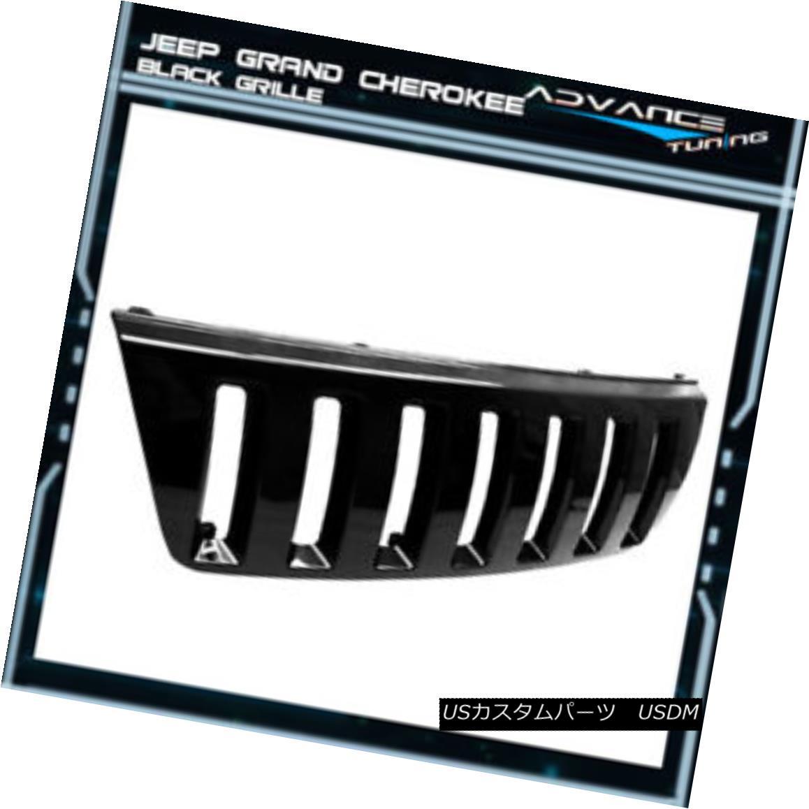 グリル For 99-03 Jeep Grand Cherokee WJ H2 Look Front Bumper Hood Grill Grille 00 01 02 99-03ジープグランドチェロキーWJ H2ルーフフロントバンパーフードグリルグリル00 01 02