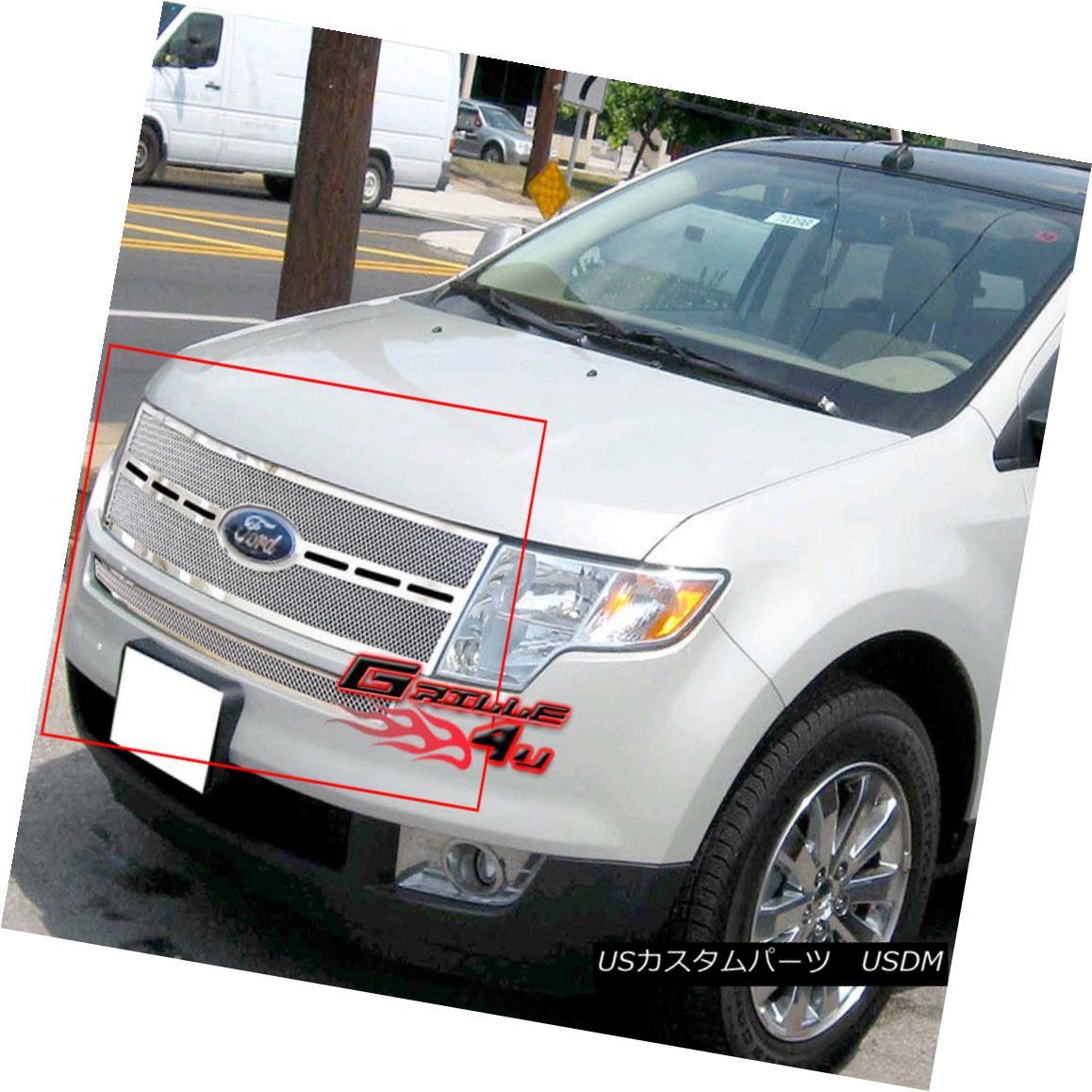グリル Fits 2007-2010 Ford Edge Stainless Steel Mesh Grille Insert フィット2007-2010フォードエッジステンレスメッシュグリルインサート