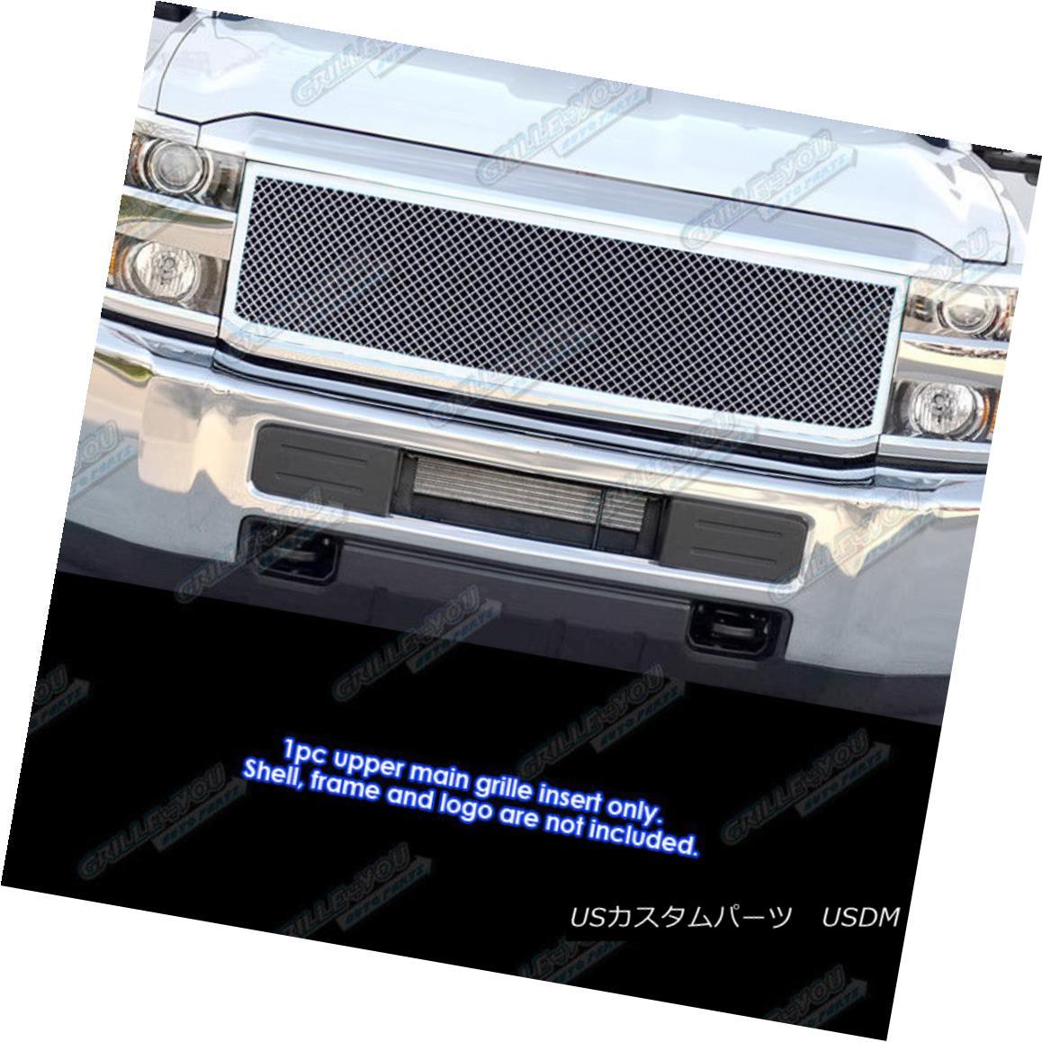 グリル Fits 2015-2017 Chevy 2500HD/3500HD Stainless Steel Mesh Grille Insert 適合2015-2017 Chevy 2500HD / 3500HDステンレスメッシュグリルインサート