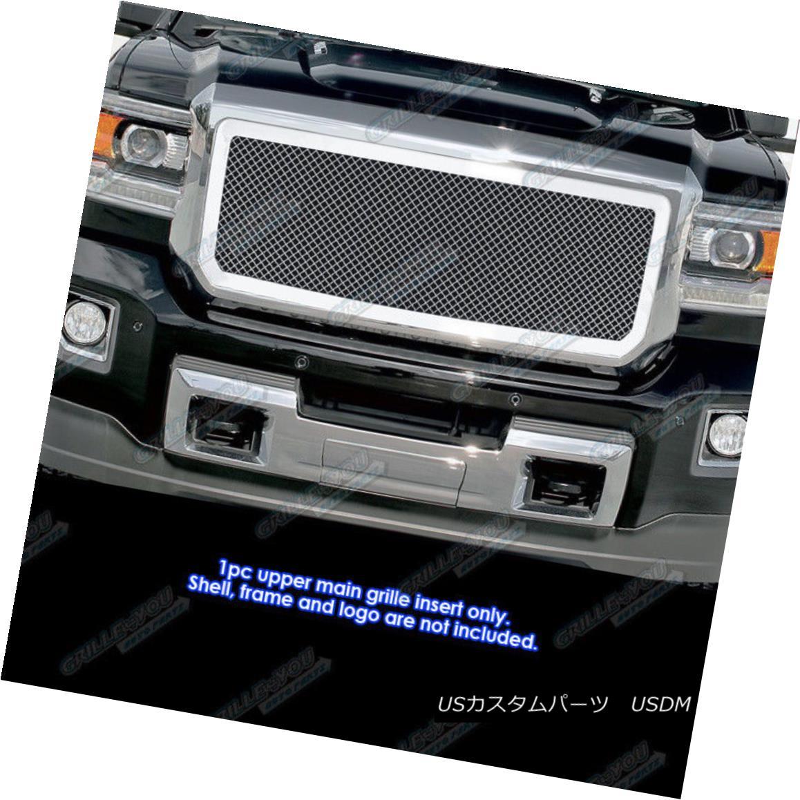 グリル Fits 2015-2017 GMC Sierra 2500/3500 Stainless Steel Mesh Grille Insert フィット2015-2017 GMC Sierra 2500/3500ステンレスメッシュグリルインサート