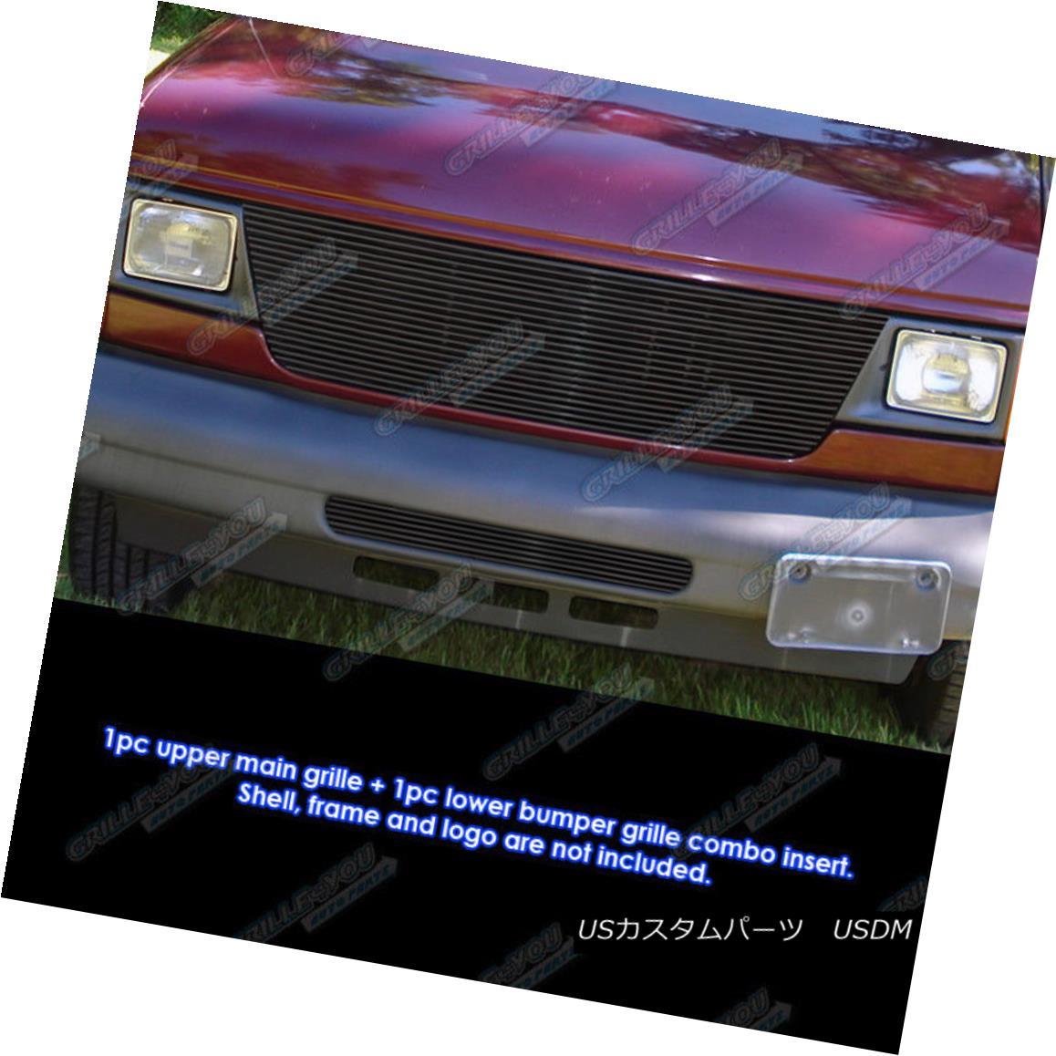 グリル Fits 1992-2007 Ford Econoline Van Black Billet Grille Combo 1992-2007 Ford Econolineヴァンブラックビレットグリルコンボ