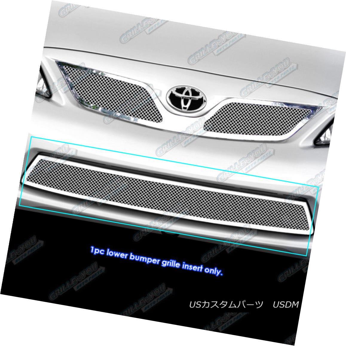 グリル For 2011-2013 Toyota Corolla Stainless Steel Bumper Mesh Grille Grill Insert トヨタカローラステンレスバンパーメッシュグリルグリルインサート