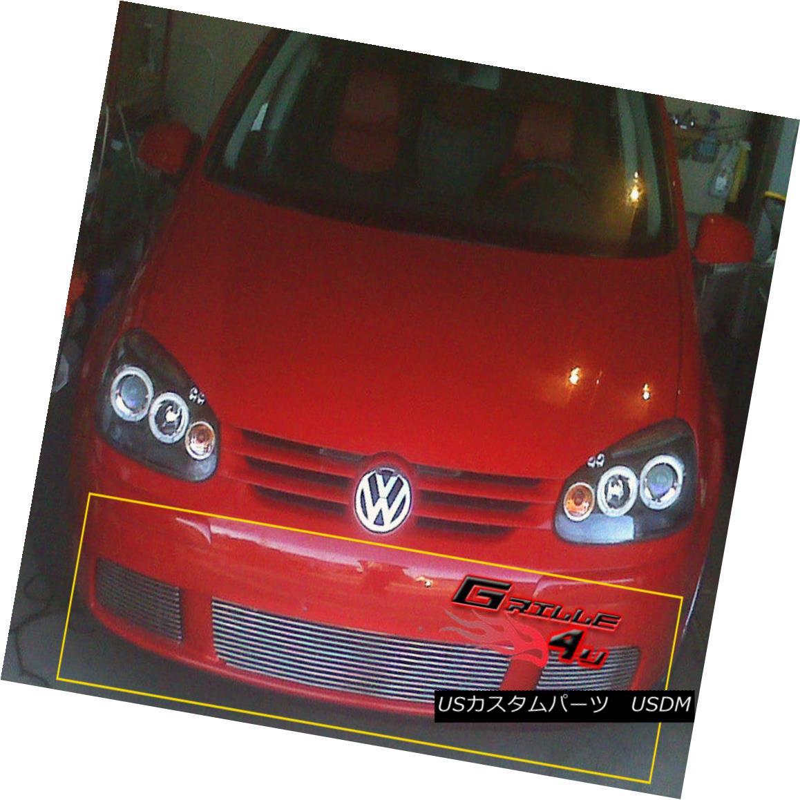 グリル Fits 07-09 VW Volkswagen Rabbit Lower Bumper Billet Grille Insert フィット07-09 VWフォルクスワーゲンウサギロワーバンパービレットグリルインサート