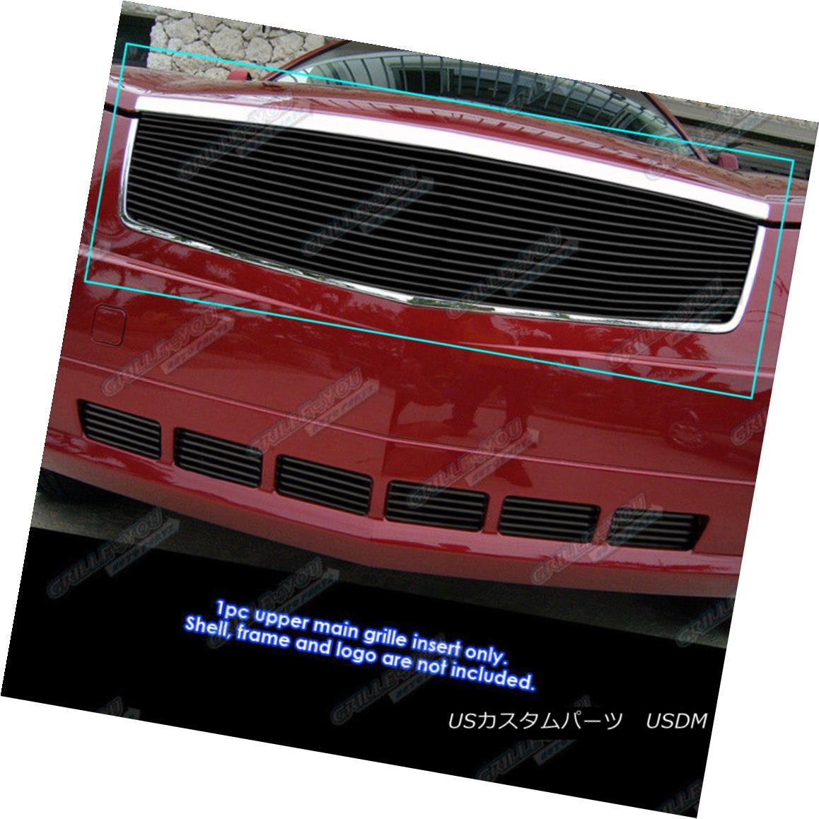 グリル Fits 2005-2009 Cadillac SRX Black Main Upper Billet Grille Grill Insert 2005-2009 Cadillac SRX Blackメインアッパービレットグリルグリルインサート
