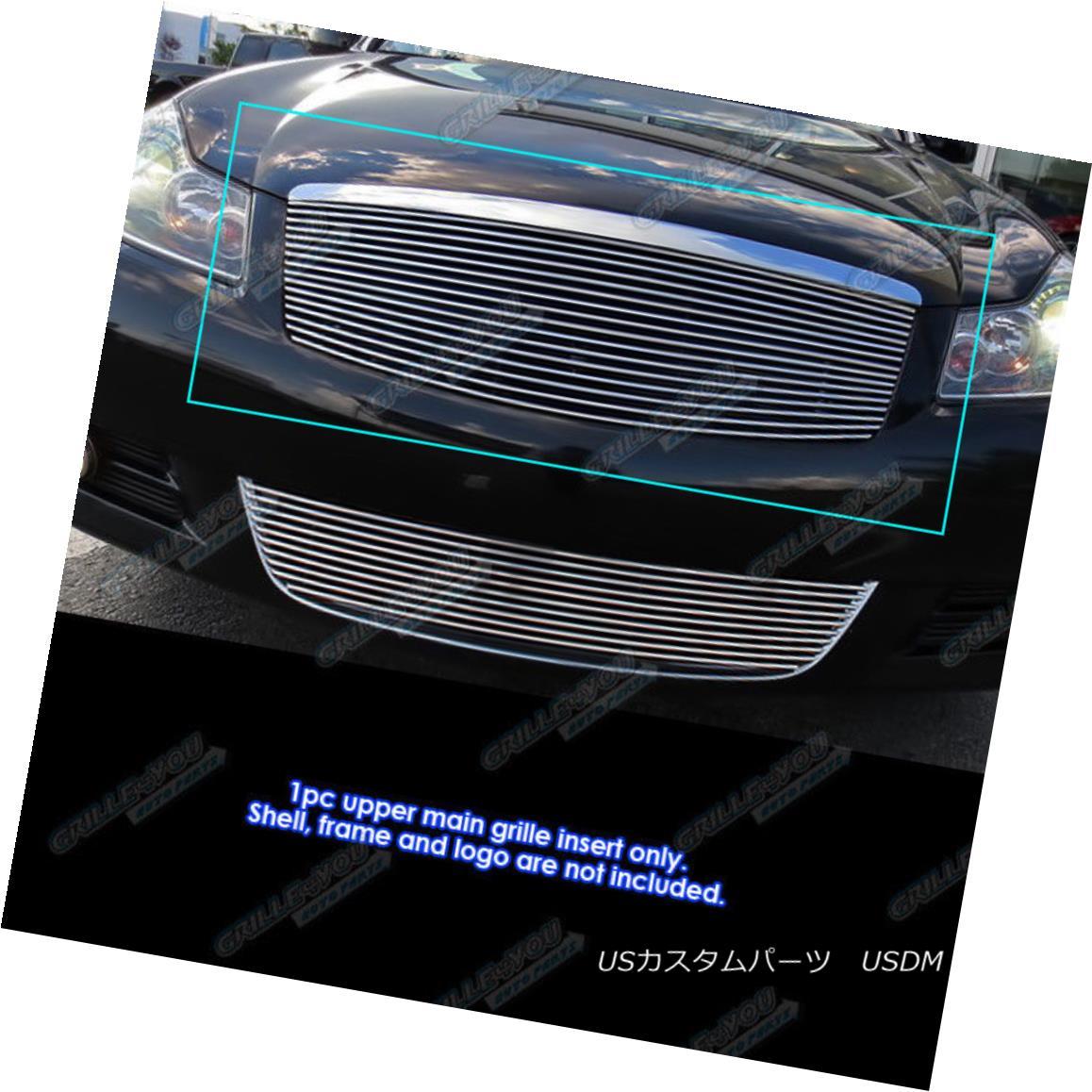 グリル Fits 2008-2010 Infiniti M35/M45 Main Upper Billet Grille Grill Insert フィット2008-2010インフィニティM35 / M45メインアッパービレットグリルグリルインサート