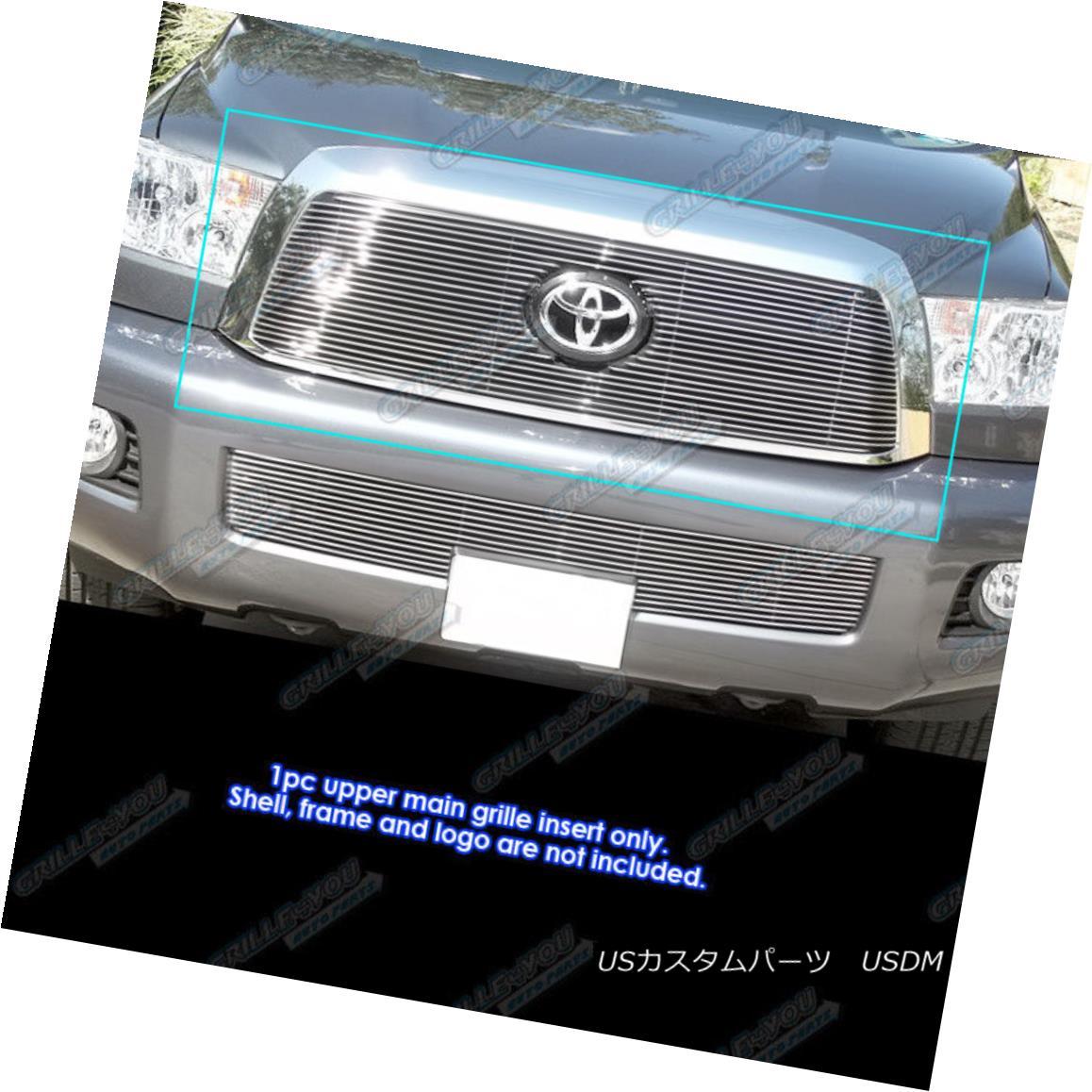 USグリル Fits 2008-2017 Toyota Sequoia Main Upper Billet Grille Insert フィット2008-2017トヨタセコイアメインアッパービレットグリルインサート