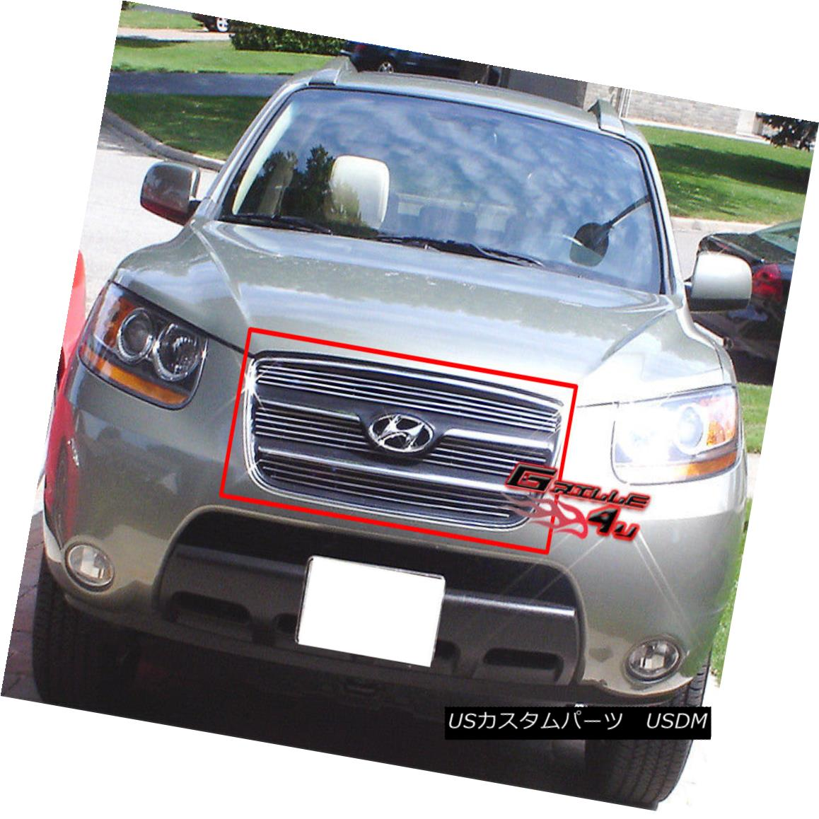 グリル Fits 2007-2009 Hyundai Santa Fe Billet Grille Insert 2007-2009現代サンタフェビレットグリルインサートに適合
