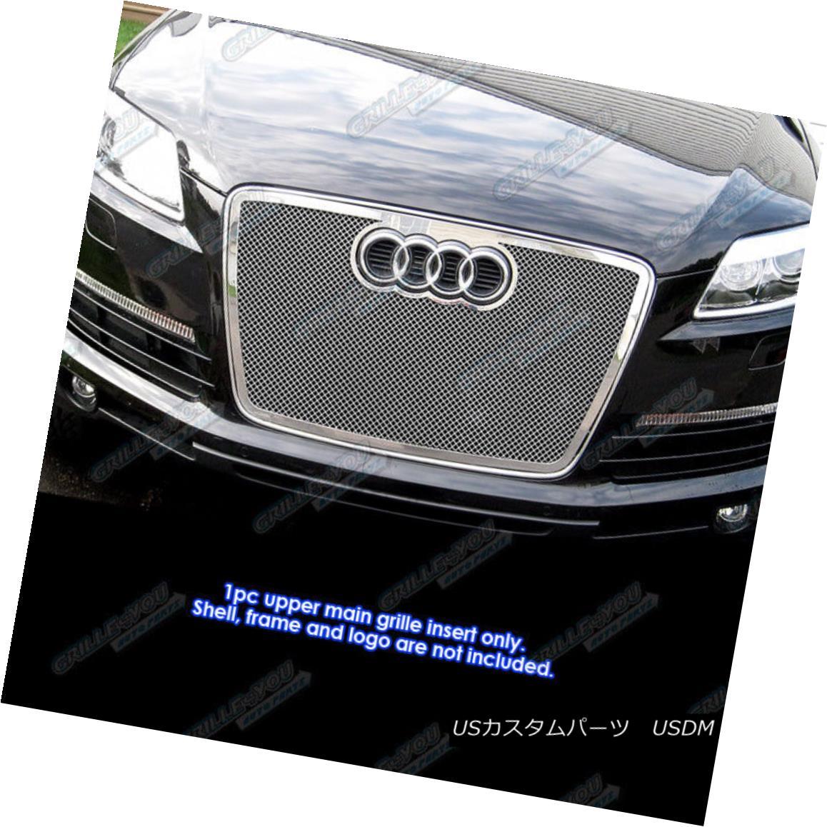 グリル Fits 2007-2009 Audi Q7 Stainless Steel Mesh Grille Insert 2007?2009年のアウディQ7ステンレスメッシュグリルインサートに適合