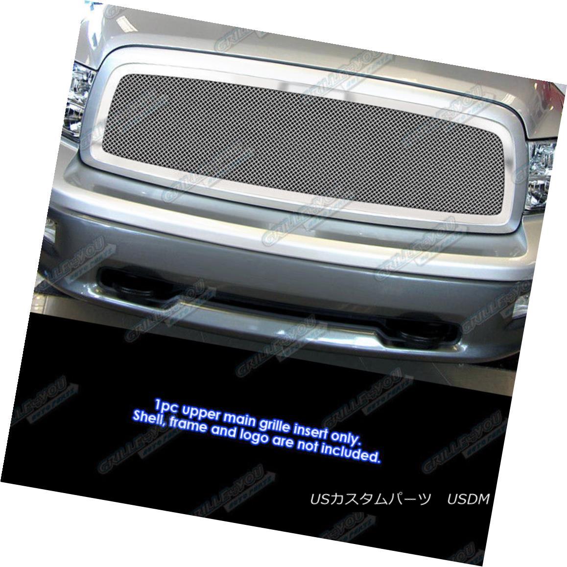 グリル Fits 2009-2012 Dodge Ram 1500 Mesh Grille Grill Insert 2009-2012 Dodge Ram 1500メッシュグリルグリルインサート