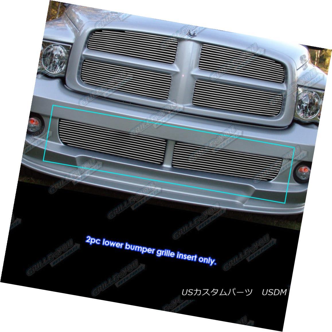 グリル Fits 2004-2006 Dodge Ram SRT 10 Lower Bumper Billet Grille Insert 2004-2006 Dodge Ram SRT 10 Lower Bumper Billet Grille Insertに適合