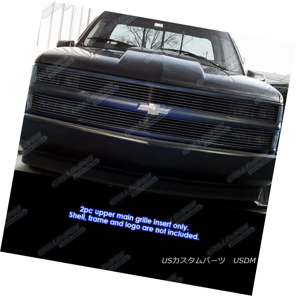 グリル Fits 1994-1999 C/K Pickup/Suburban/Blazer/Tahoe Phantom Black Billet Grille Fitz 1994-1999 C / K Pickup / Suburba n / Blazer / Tahoe Phantom Black Billet Grille