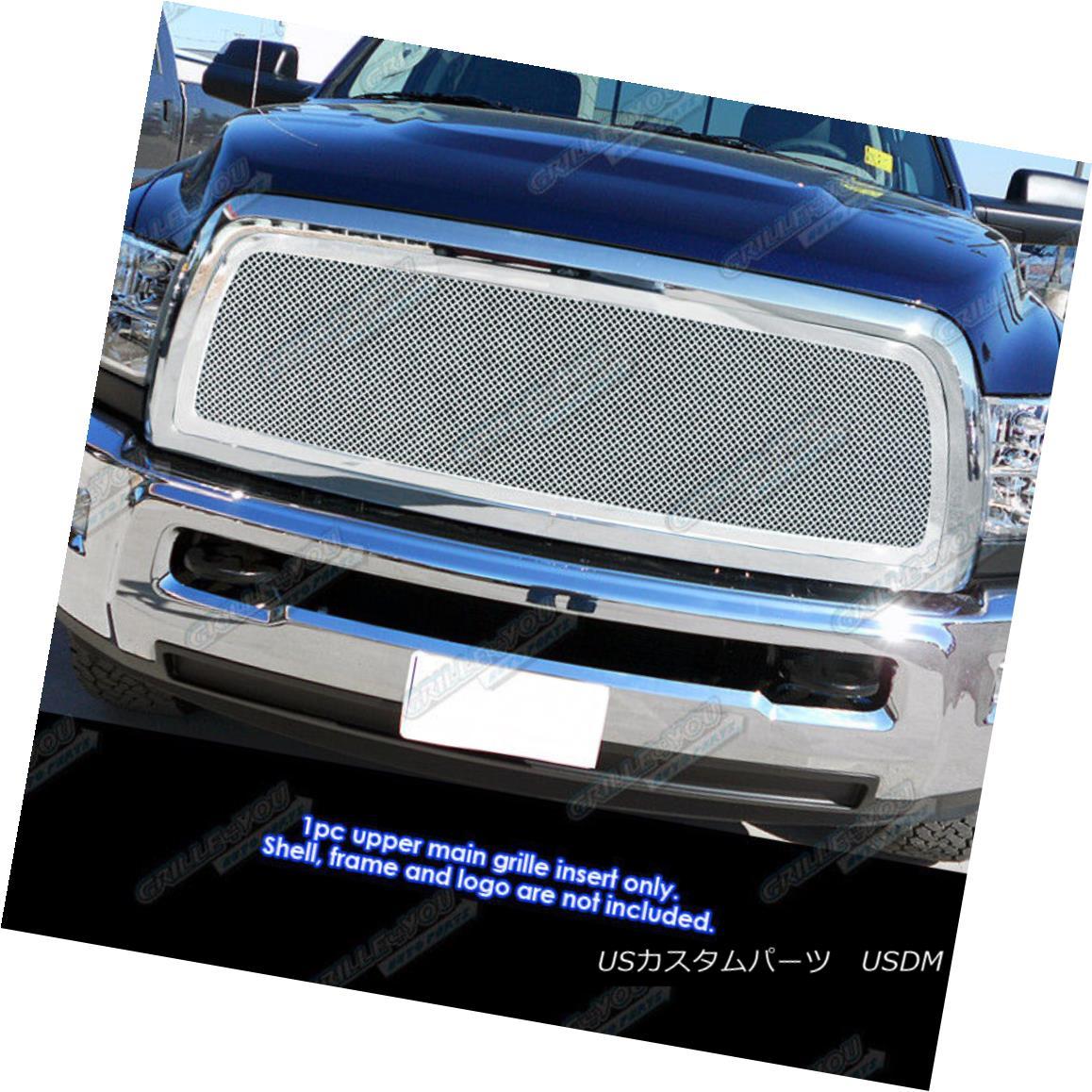 グリル Fits 2010-2013 Dodge Ram 2500/3500 Stainless Steel Mesh Grille Grill Insert フィット2010-2013ダッジラム2500/3500ステンレスメッシュグリルグリルインサート