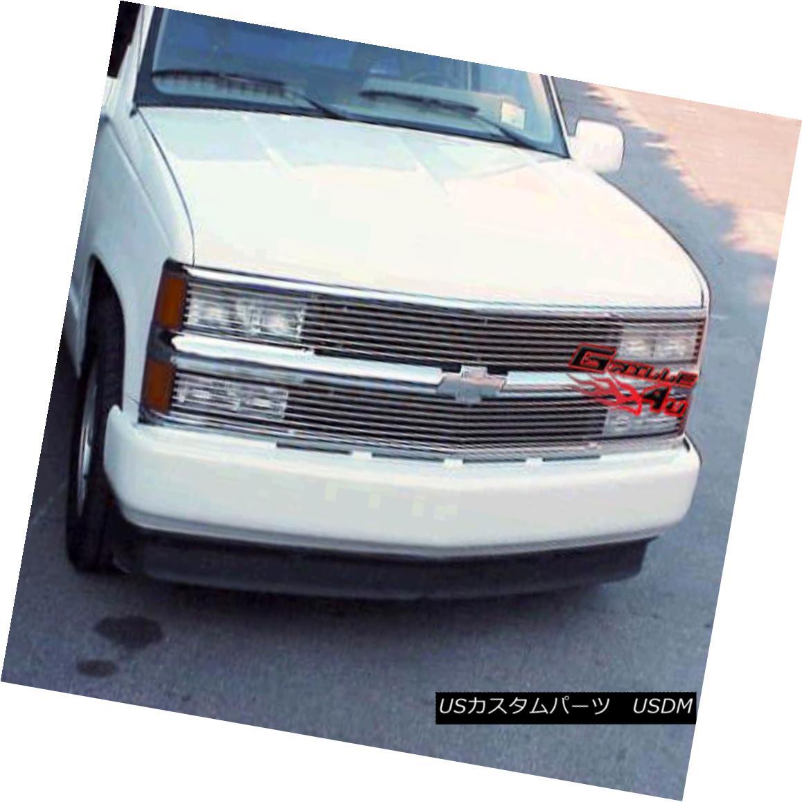 グリル For 94-99 C/K Pickup/Suburban/Blazer/Tahoe Phantom Billet Grille Grill Insert 94-99 C / Kピックアップ/サバーバッジ用/ Blazer / Tahoeファントムビレットグリルグリルインサート