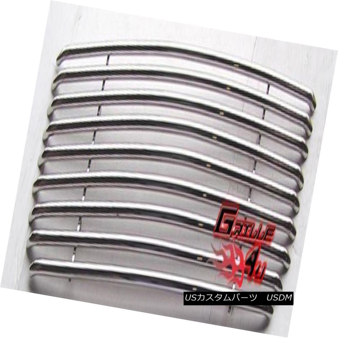 グリル Fits 01-09 GMC Envoy Stainless Steel Tubular Grille Insert フィット01-09 GMCエンボイステンレススチール管状グリルインサート