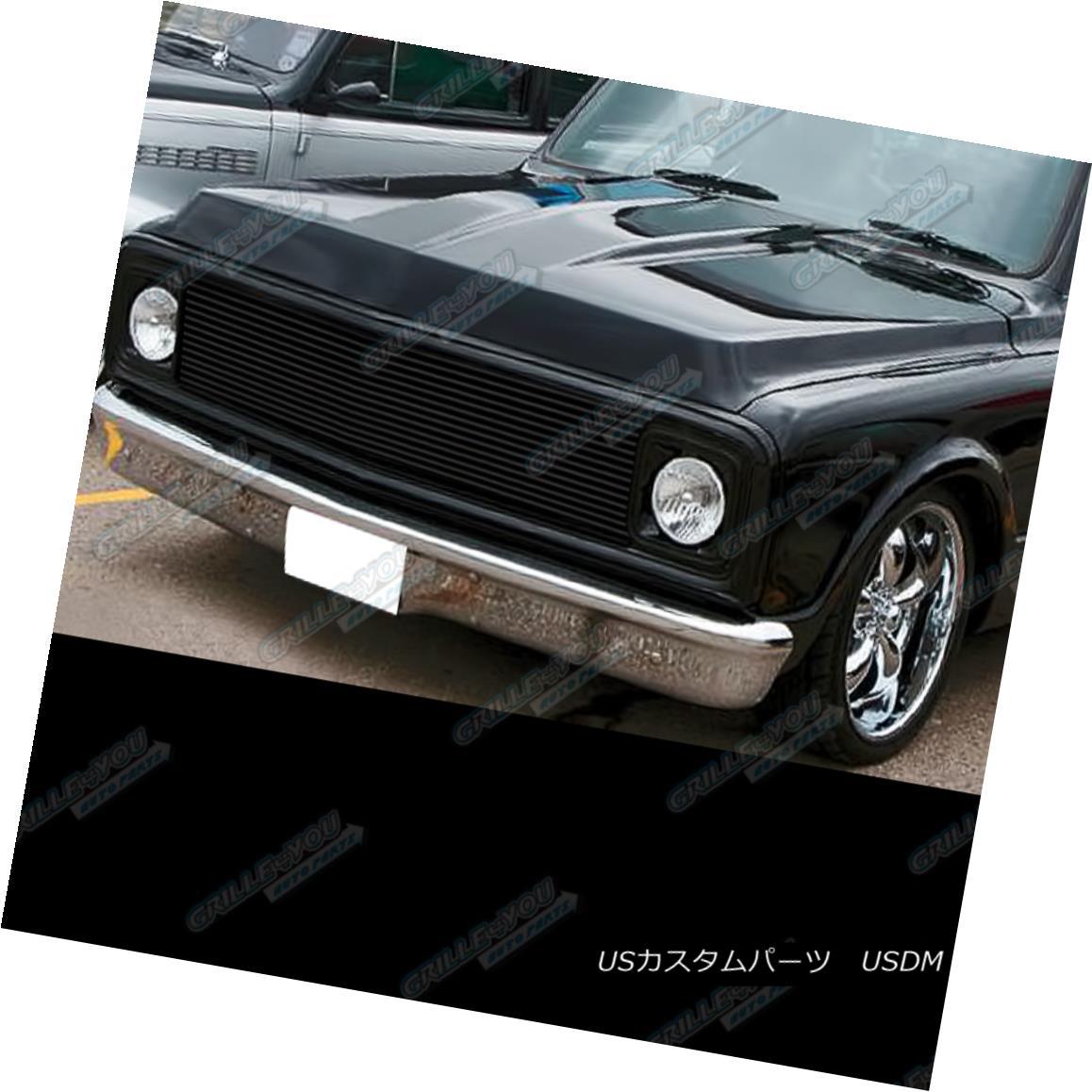 グリル Fits 1969-1972 Chevy Blazer/C/K Pickup/Suburban Black Billet Grille Insert フィット1969-1972 Chevy Blazer / C / K Pickup / Suburba n Black Billet Grille Insert