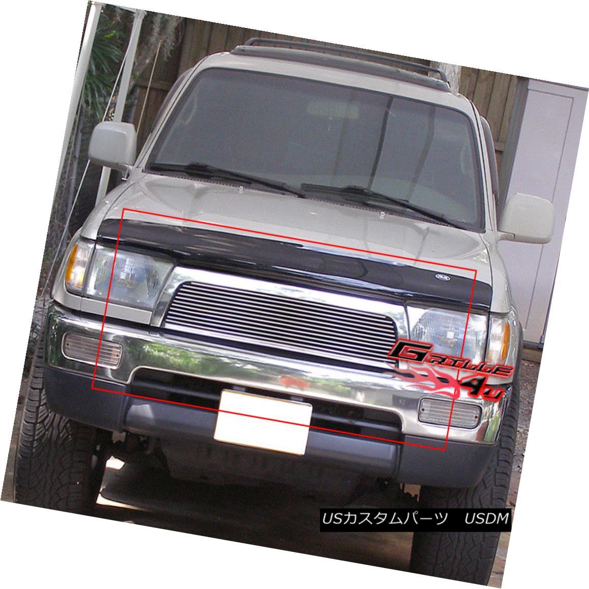グリル Fits 96-98 Toyota 4Runner 4 Runner Main Upper Billet Grille Insert フィット96-98トヨタ4ランナー4ランナーメインアッパービレットグリルインサート