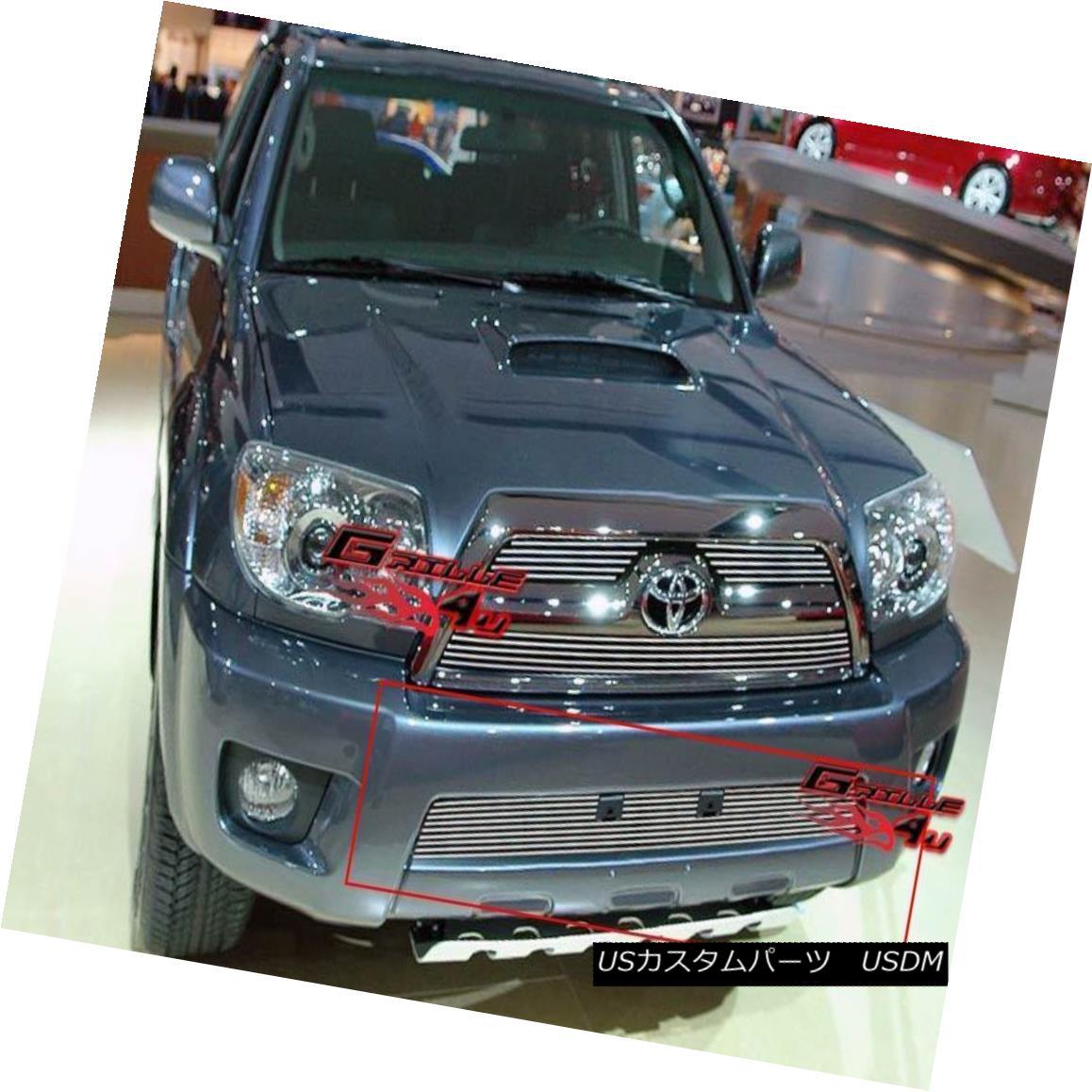 グリル Fits 2006-2009 Toyota 4Runner Lower Bumper Billet Grille Insert フィット2006-2009トヨタ4Runnerロワーバンパービレットグリルインサート