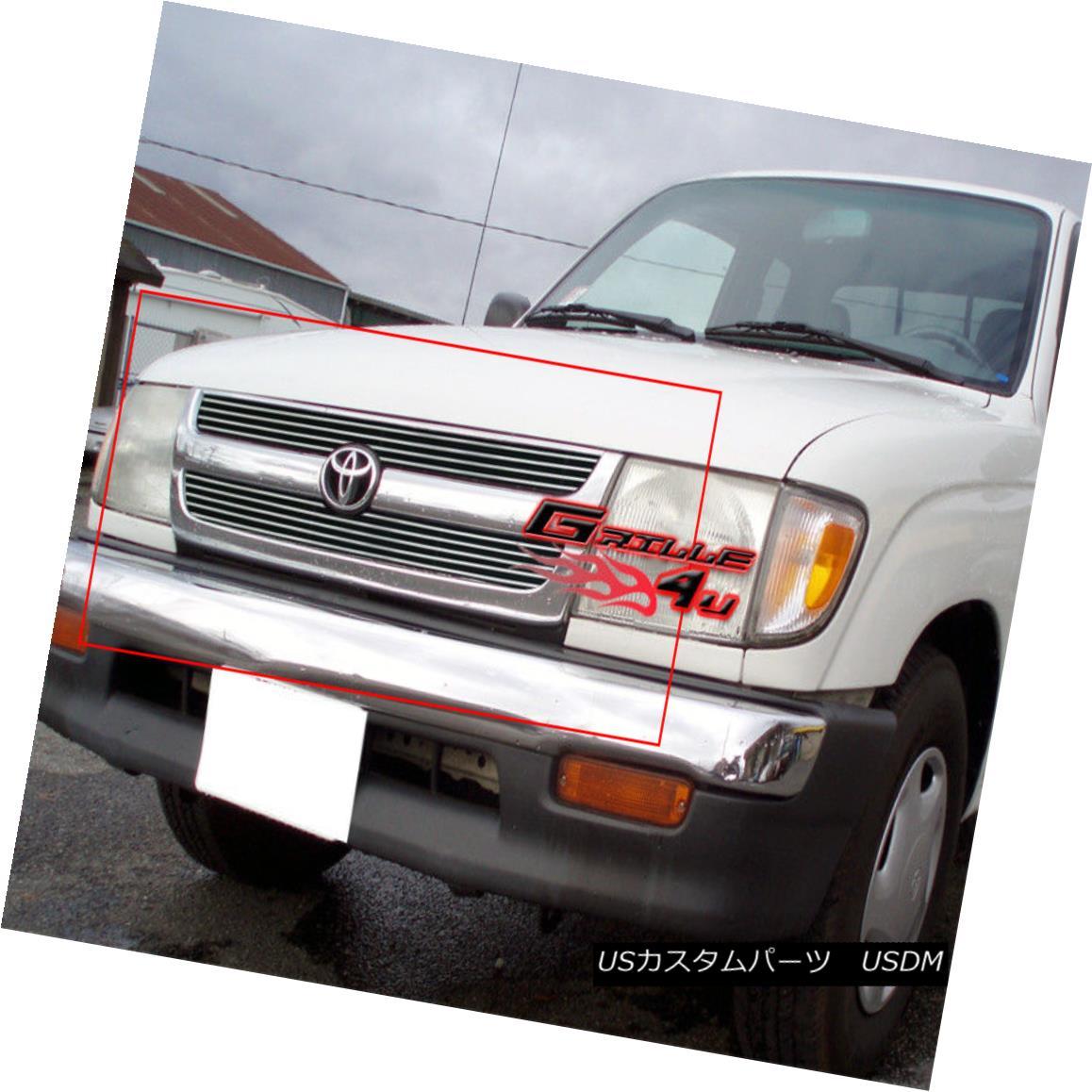 グリル Fits 98-00 Toyota Tacoma Regular Model Main Upper Billet Grille Insert フィット98-00トヨタタコマレギュラーモデルメインアッパービレットグリルインサート