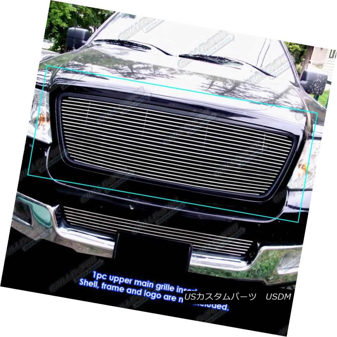 グリル Fits 04-08 Ford F-150 Honeycomb Style Main Upper Billet Grille Insert フィッティング04-08 Ford F-150ハニカムスタイルメインアッパービレットグリルインサート