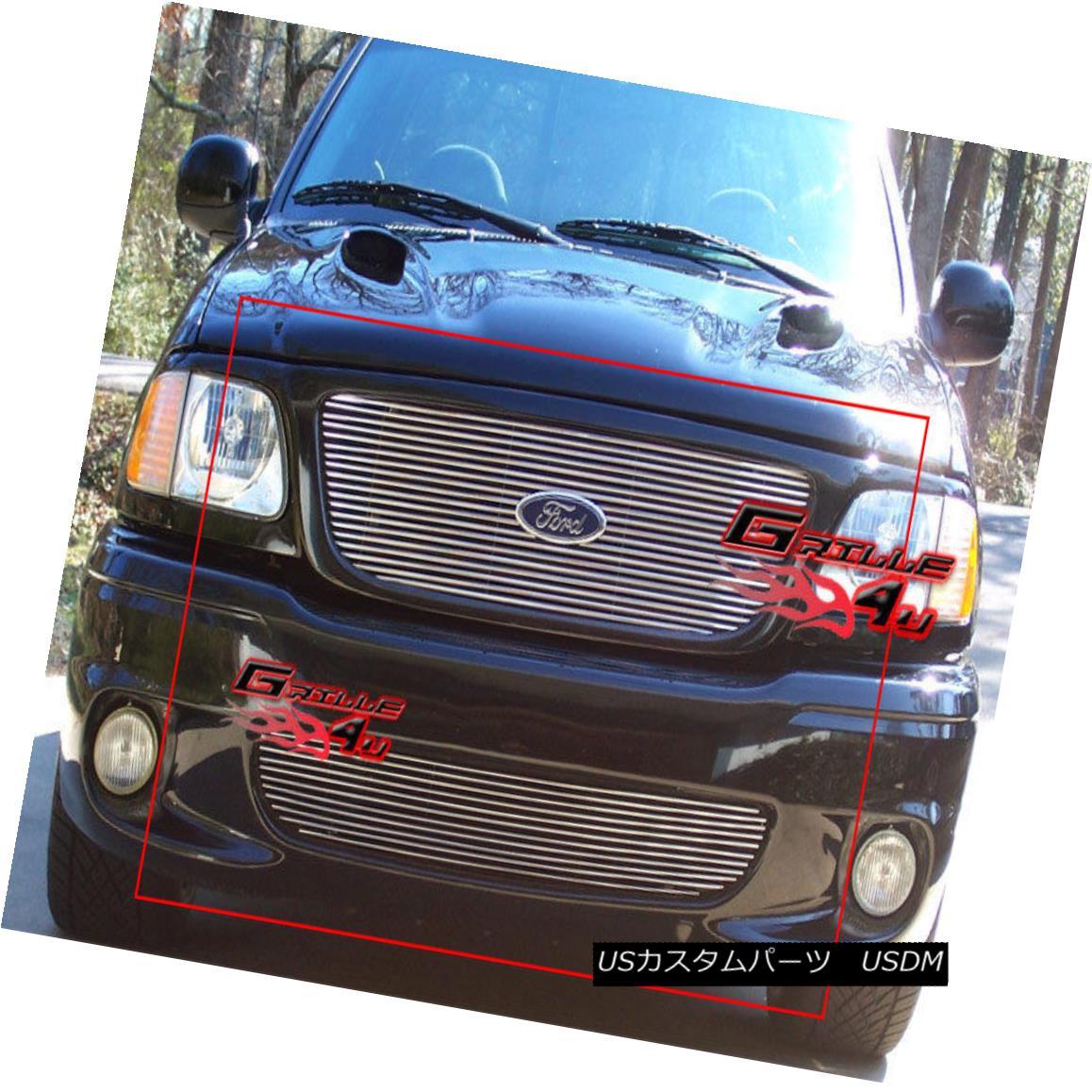 グリル Fits 1999-2003 Ford F-150 Lightning Billet Grille Combo フィット1999-2003フォードF - 150ライトニングビレットグリルコンボ