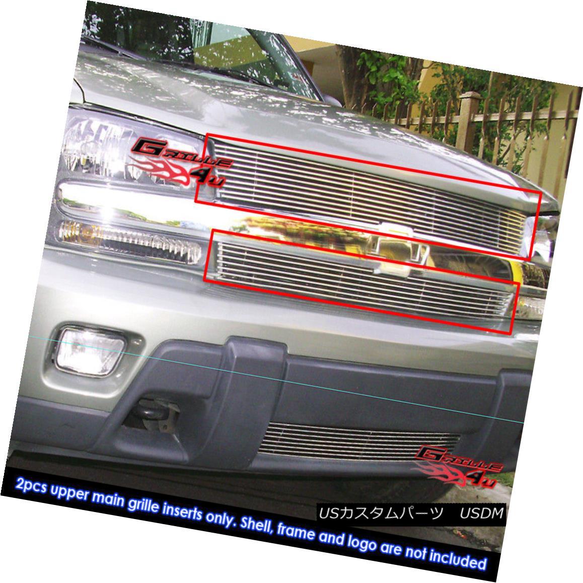 グリル Fits 02-05 Chevy Trailblazer LT/LS/SS Main Upper Billet Grille Insert フィット02-05 Chevy Trailblazer LT / LS / SSメインアッパービレットグリルインサート