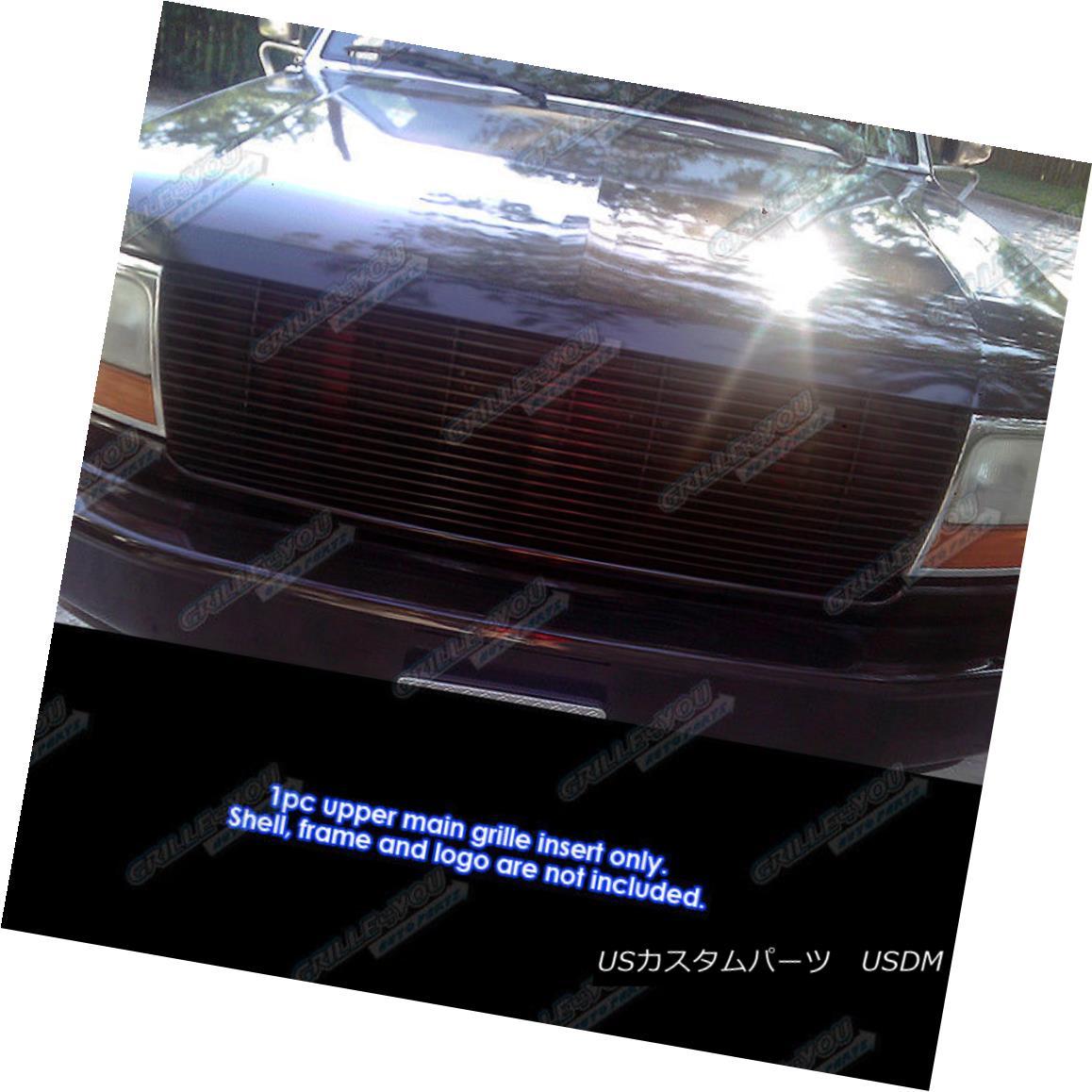 グリル For 92-96 Ford Bronco/F-Series Pickup Black Billet Grille Grill Insert 92-96 Ford Bronco / F-Serie 用ピックアップブラックビレットグリルグリルインサート