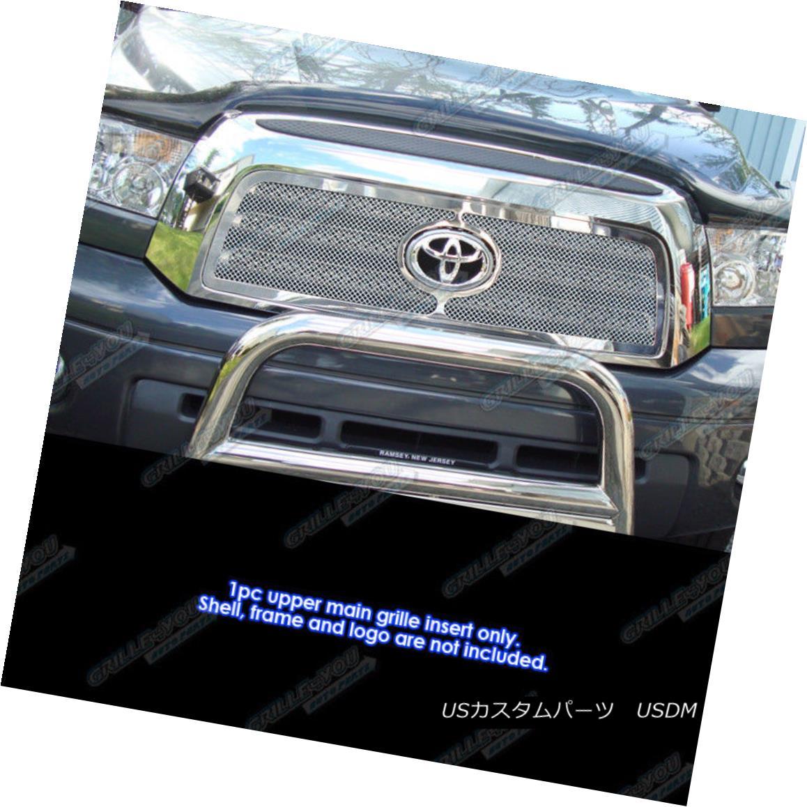 グリル Fits 07-09 Toyota Tundra Stainless Steel Mesh Grille Insert フィット07-09トヨタトンドラステンレスメッシュグリルインサート