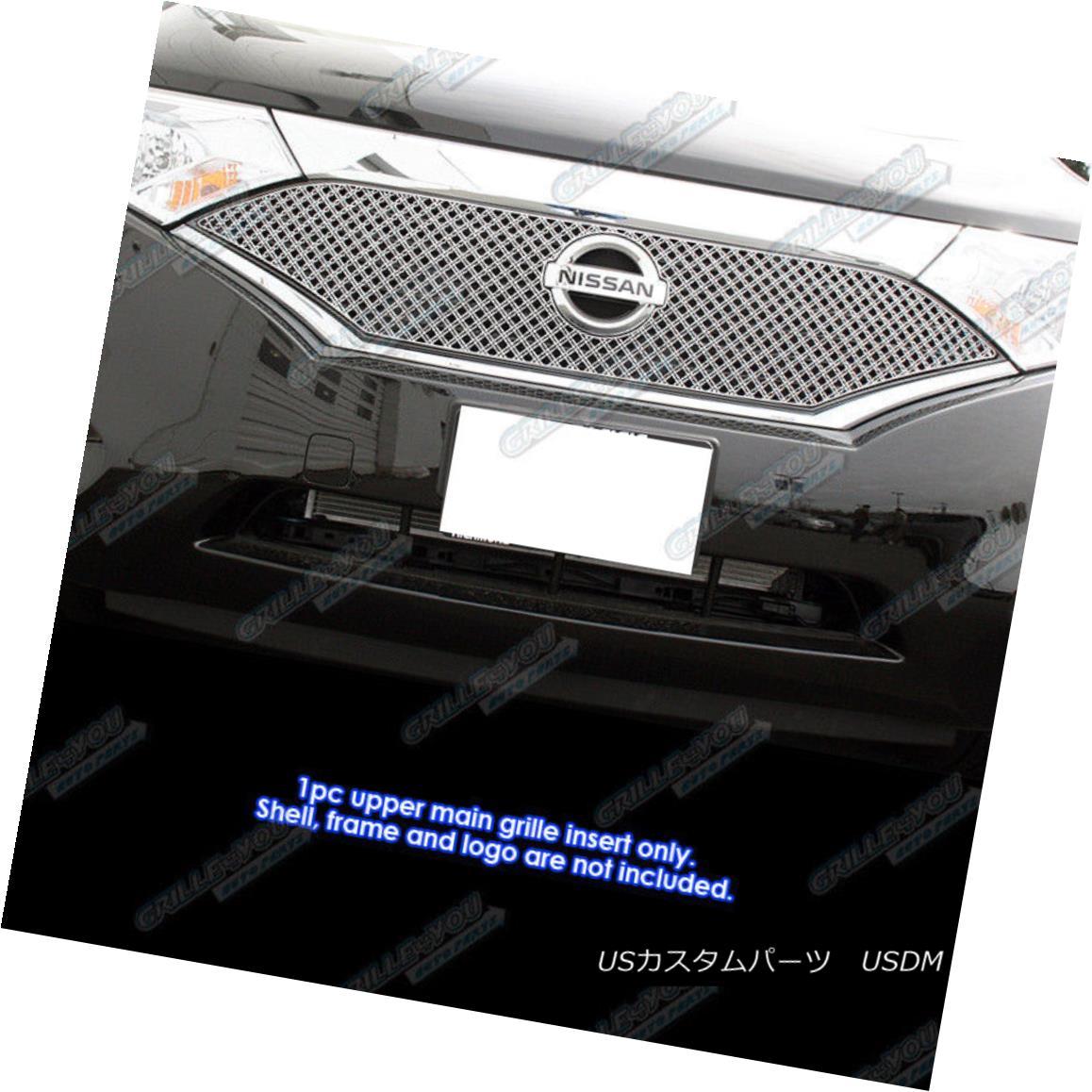 グリル Fits 2012-2016 Nissan Quest Stainless Double Wire X Mesh Grille Insert フィット2012-2016日産クエストステンレスダブルワイヤーXメッシュグリルインサート