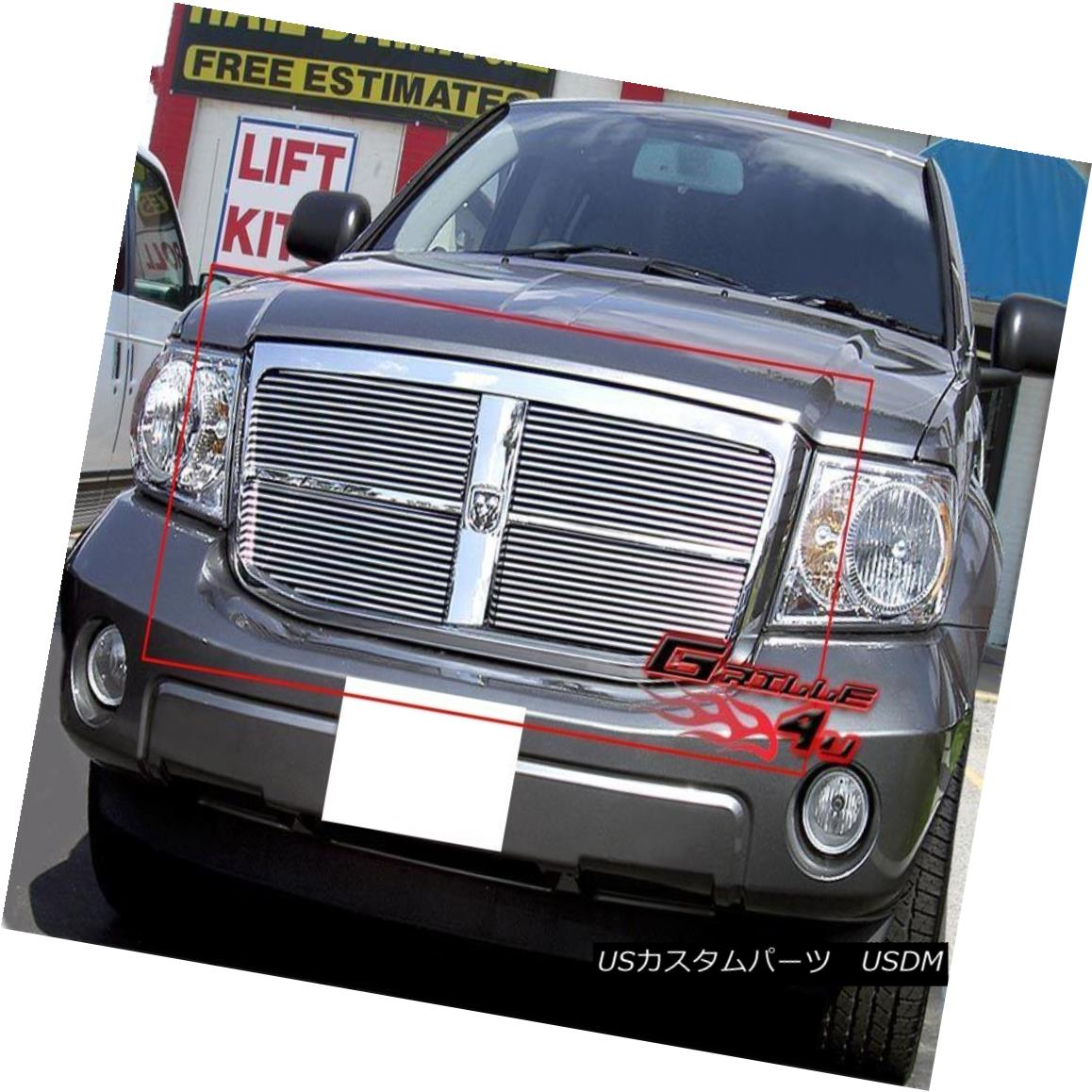 グリル Fits 07-10 Dodge Durango Main Upper Billet Grille Insert 07-10 Dodge Durangoメインアッパービレットグリルインサート