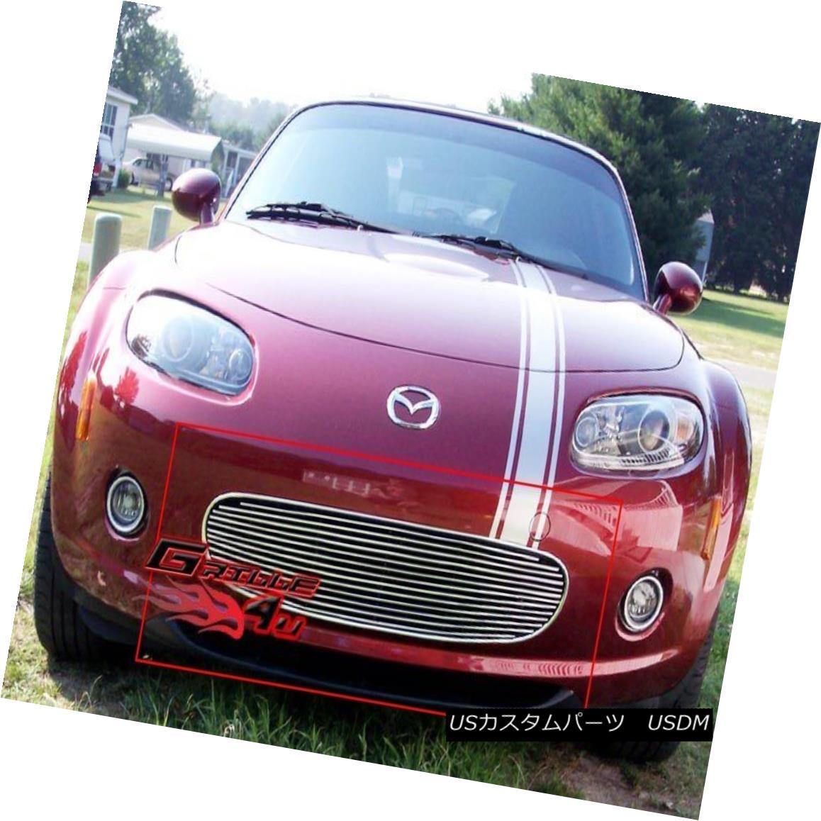 グリル Fits 2006-2008 Mazda MX-5 Lower Bumper Billet Grille Insert フィット2006-2008マツダMX - 5ロワーバンパービレットグリルインサート
