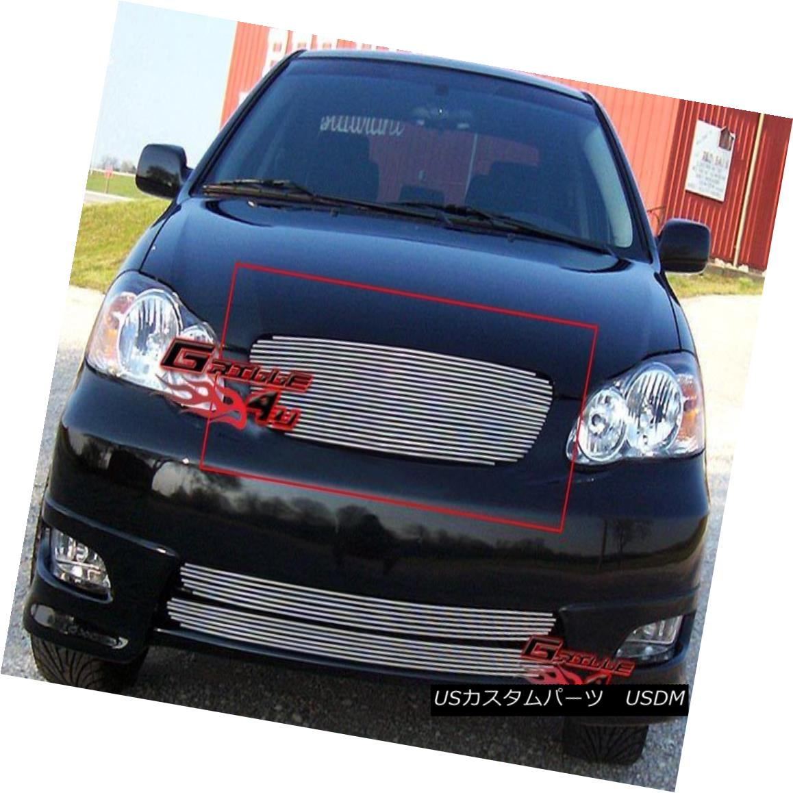 グリル Fits 2003-2004 Toyota Corolla Main Upper Billet Grille Grill Insert フィット2003-2004トヨタカローラメインアッパービレットグリルグリルインサート