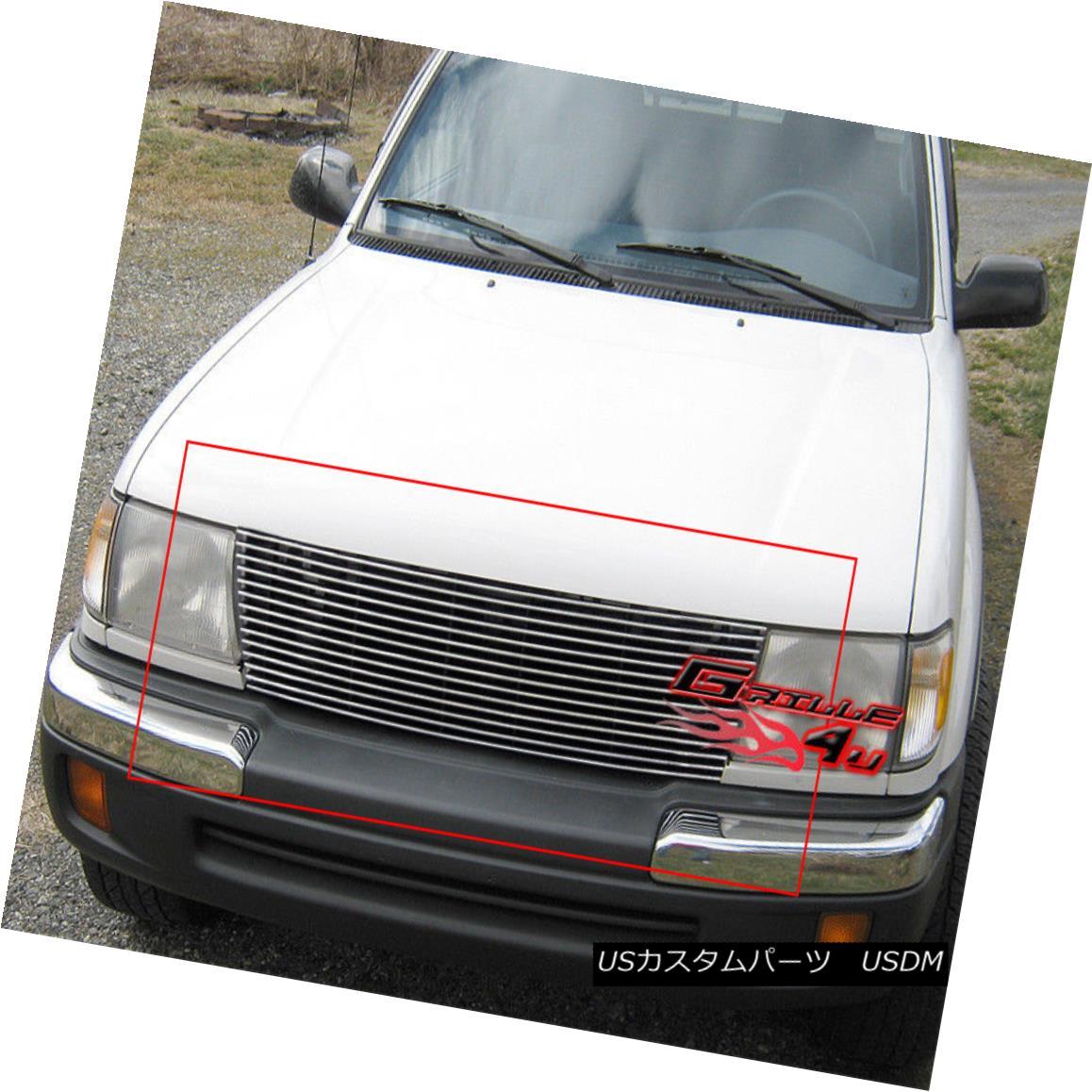 グリル Fits 1998-2000 Toyota Tacoma Main Upper Billet Grille Insert フィッティング1998-2000トヨタタコマメインアッパービレットグリルインサート