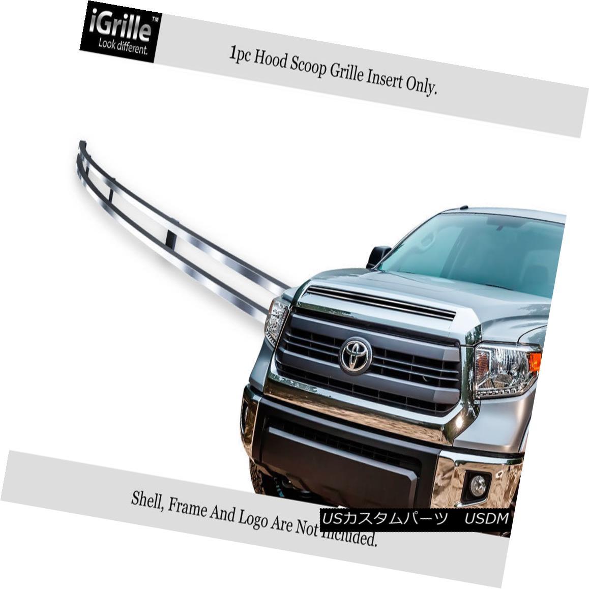 グリル Fits 2014-2015 Toyota Tundra Hood Scoop Stainless Steel Billet Grille Insert フィット2014-2015トヨタトンドラフードスクープステンレス鋼ビレットグリルインサート