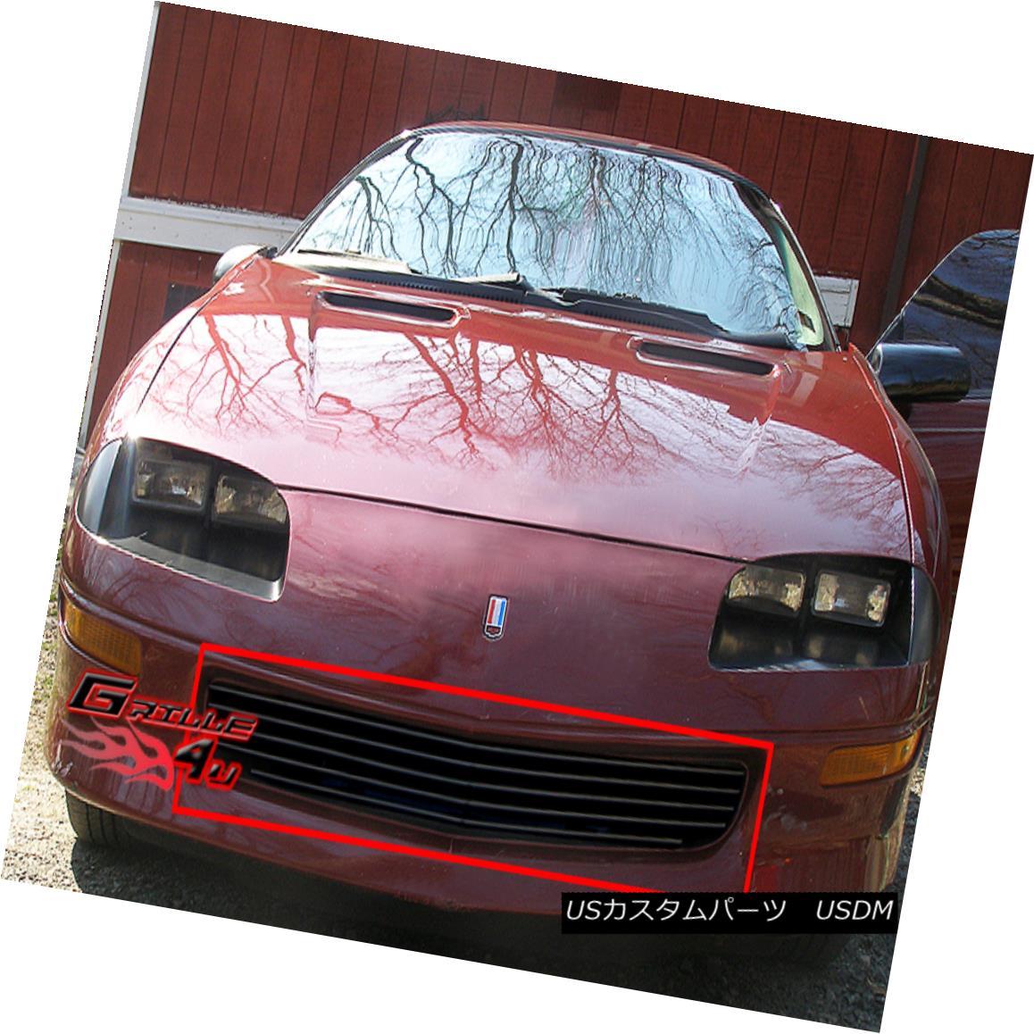 グリル Fits 93-97 Chevy Camaro Black Main Upper Billet Grille Insert フィット93-97 Chevy Camaro Blackメインアッパービレットグリルインサート