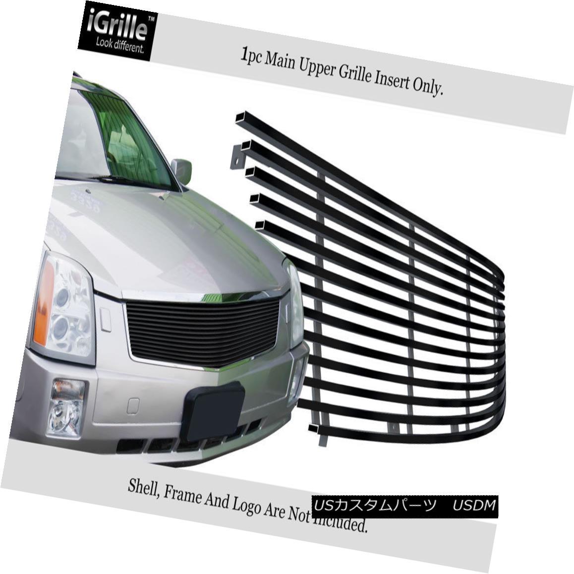 グリル For 2005-2009 Cadillac SRX Black Stainless Steel Billet Grille Grill Insert 2005-2009キャデラックSRXブラックステンレス鋼ビレットグリルグリル用