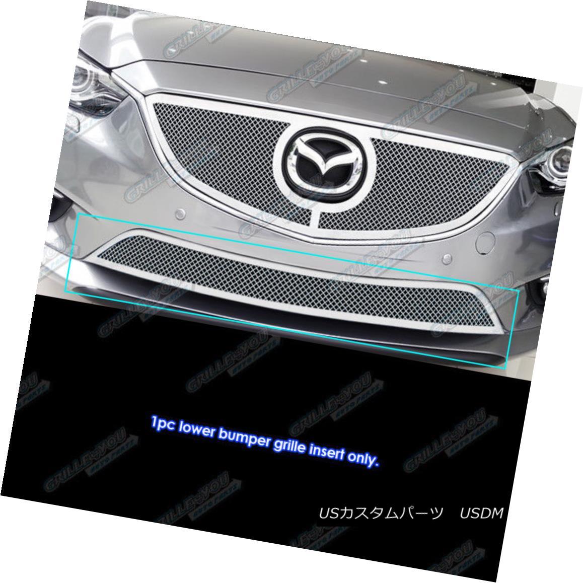 グリル Fits 2014-2016 Mazda 6 Stainless Lower Lower Bumper Mesh grille Insert フィット2014-2016マツダ6ステンレス下部ロワーバンパーメッシュグリルインサート