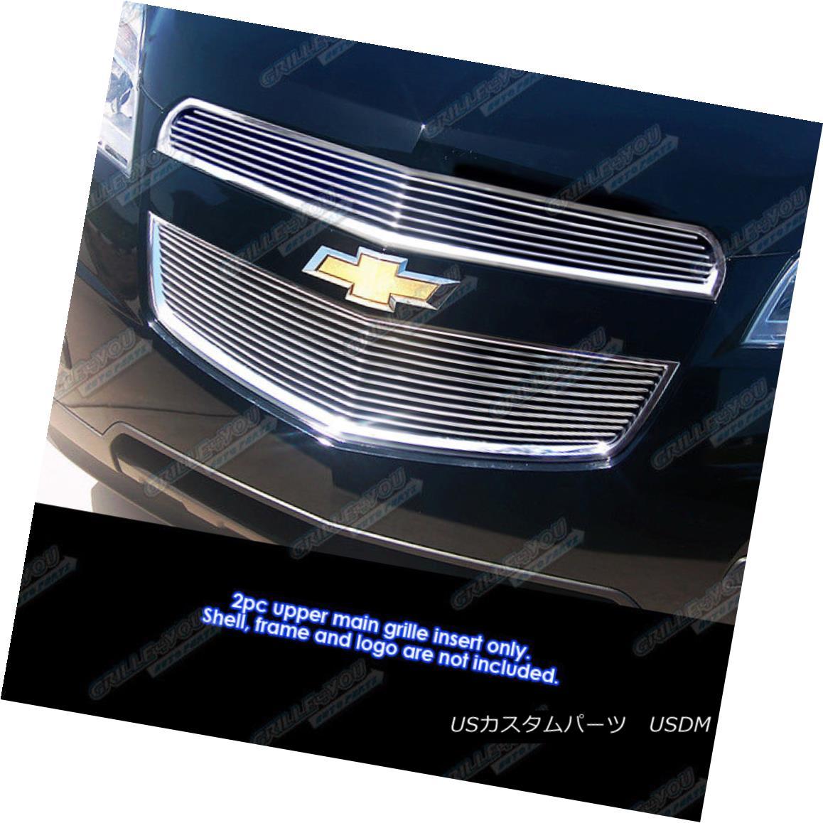 グリル Fits 2010-2015 Chevy Equinox Main Upper Billet Grille Grill Insert フィット2010-2015シェビーイクイノックスメインアッパービレットグリルグリルインサート