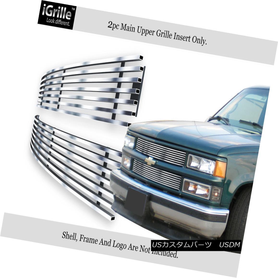 グリル Fits 94-99 C/K Pickup/Suburban/Blazer/Tahoe Stainless Steel Billet Grille フィット94-99 C / Kピックアップ/サバーバ n / Blazer / Tahoeステンレス鋼ビレットグリル