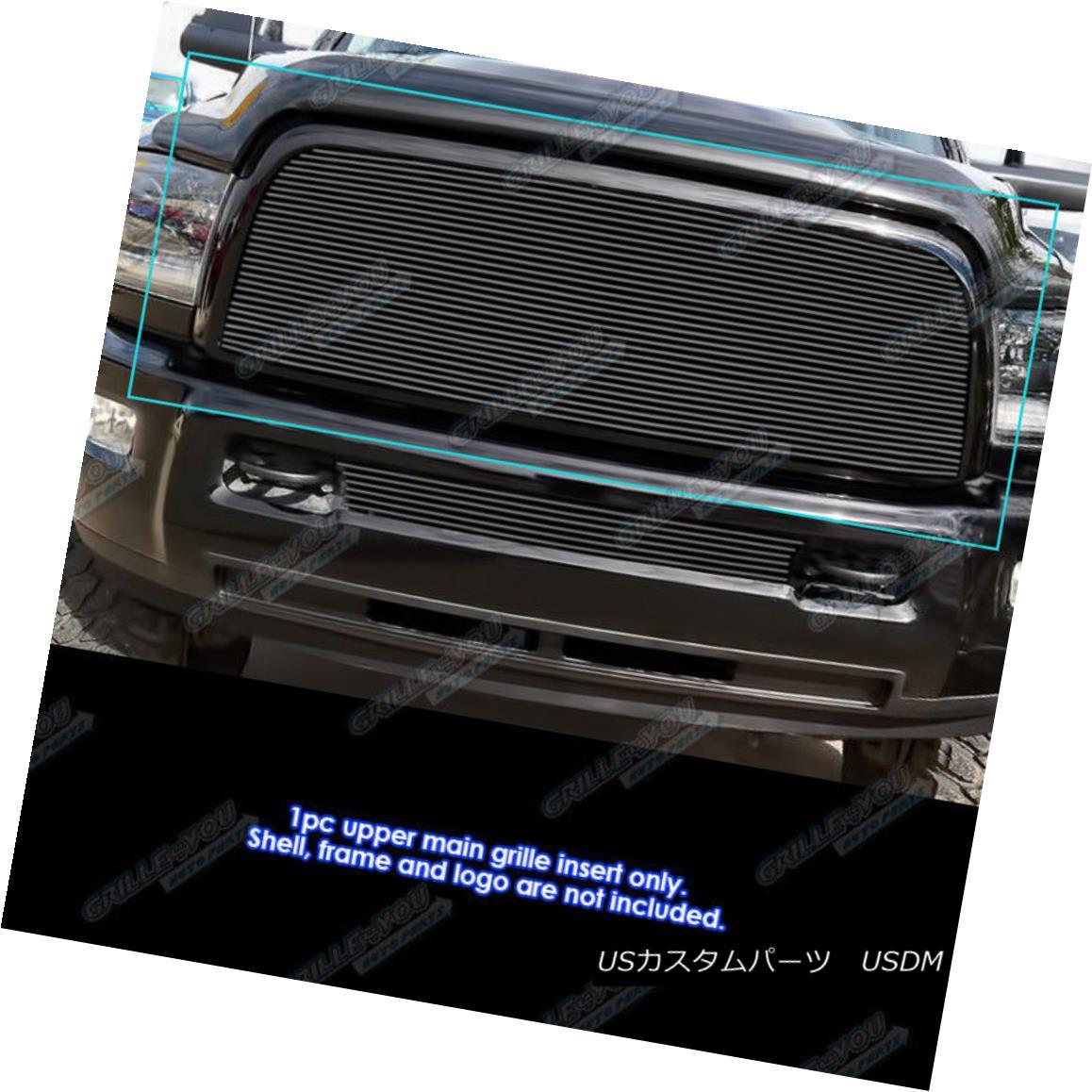 グリル Fits 2013-2018 Ram 2500/3500 Main Upper Black Billet Grille Insert 2013-2018 Ram 2500/3500メインアッパーブラックビレットグリルインサート
