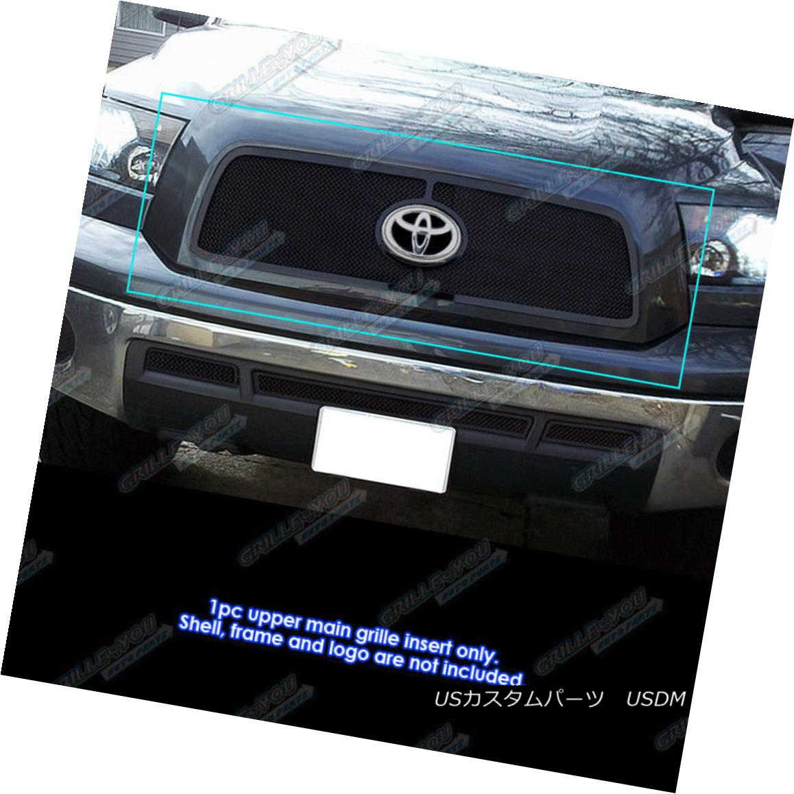 グリル For 2010-2013 Toyota Tundra Black Stainless Steel Mesh Grille Grill Insert 2010-2013トヨタトンドラブラックステンレスメッシュグリルグリルインサート