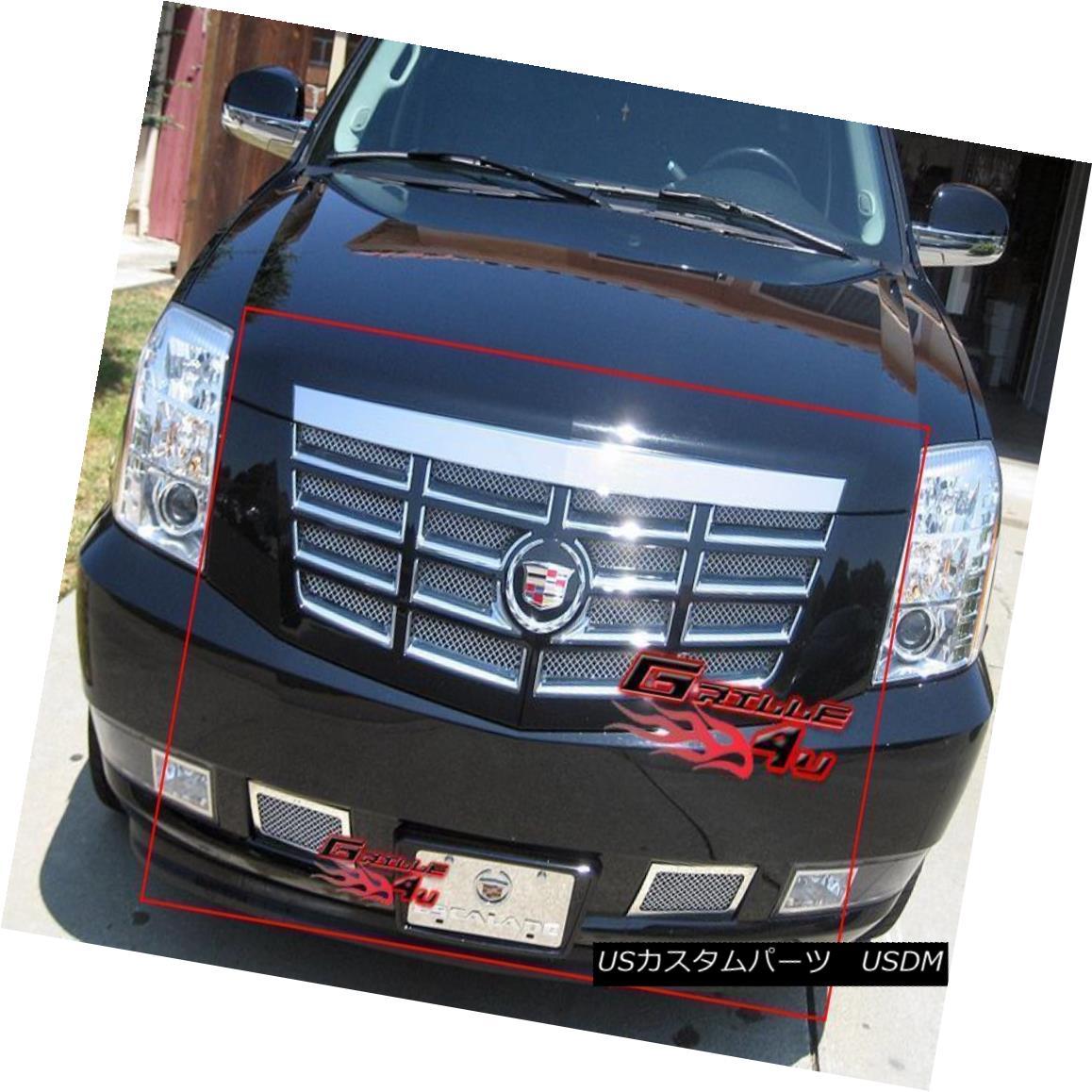 グリル Custom Fits 2007-2014 Cadillac Escalade Mesh Grill Combo Custom Fits 2007-2014 Cadillac Escaladeメッシュグリルコンボ