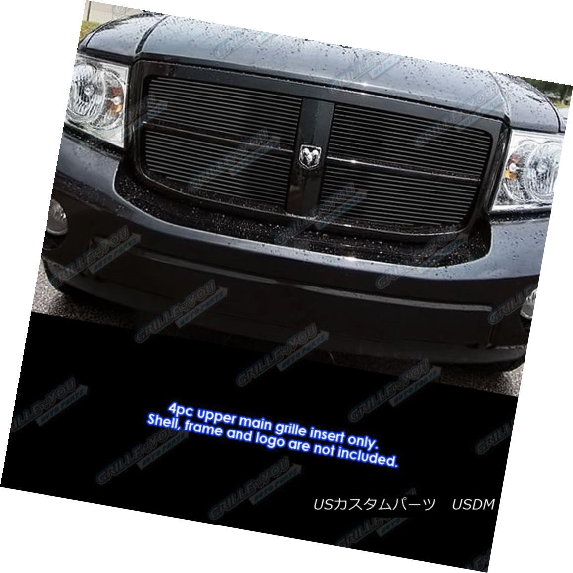 グリル Fits 2007-2010 Dodge Durango Black Billet Grille Grill Insert フィット2007-2010ドッジドゥランゴブラックビレットグリルグリルの挿入