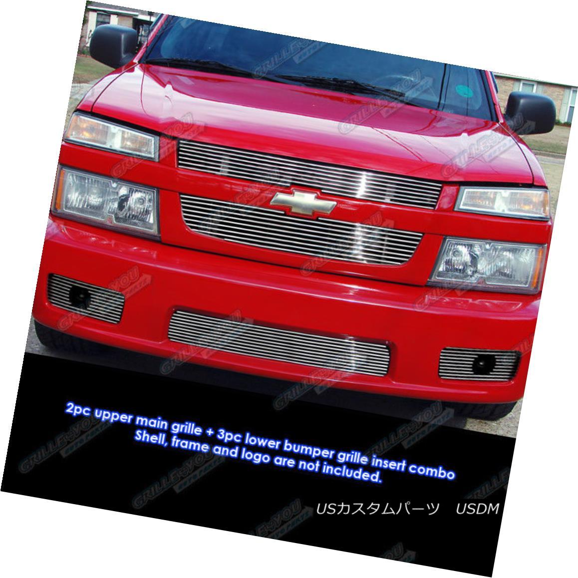 グリル Fits 04-10 Chevy Colorado Xtreme Billet Grille Combo Insert フィット04-10シボレーコロラドXtremeビレットグリルコンボインサート