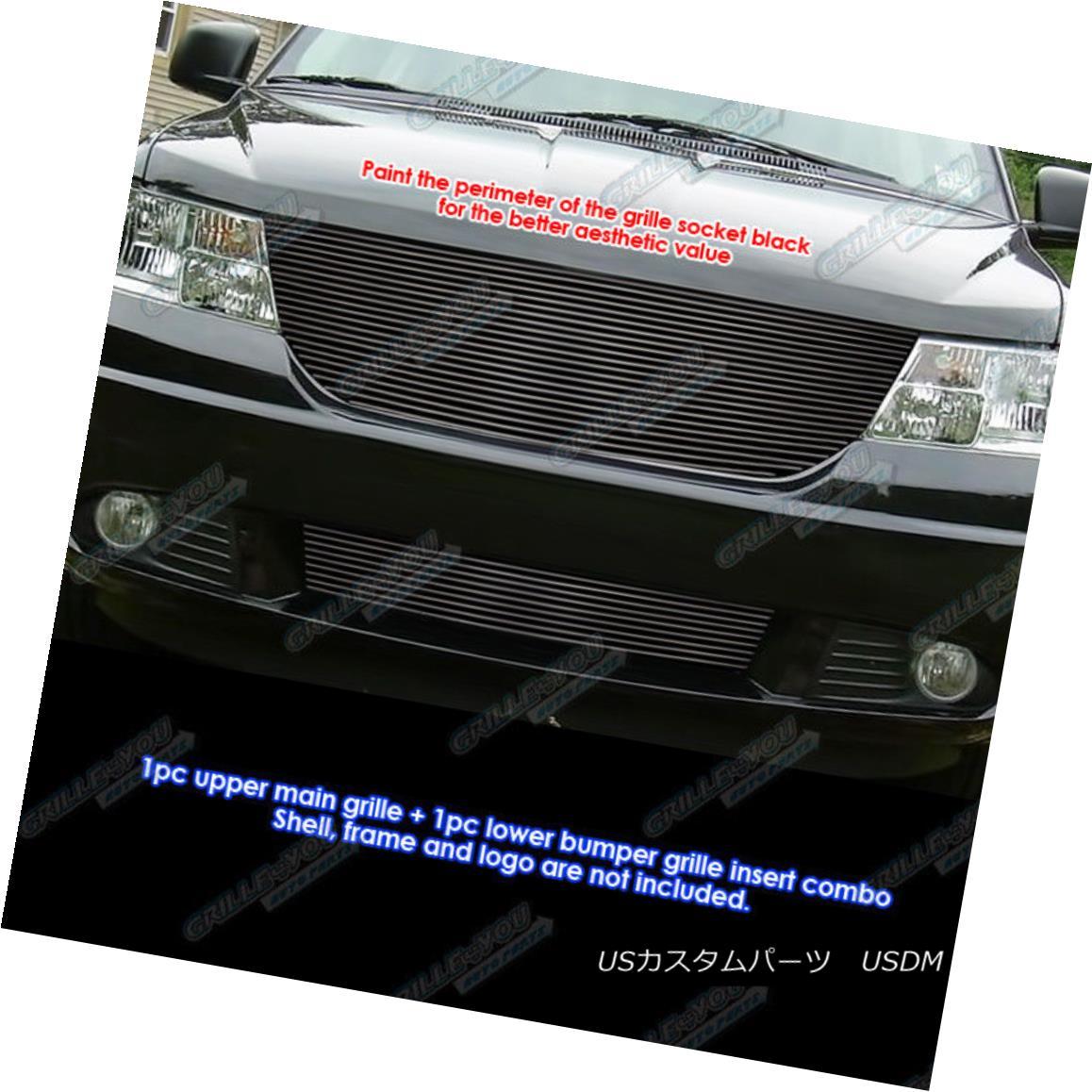 グリル Fits 2009-2010 Dodge Journey R/T & SE/SXT Black Billet Grille Grill Insert Combo 2009-2010 Dodge Journey R / T& amp; amp; SE / SXTブラックビレットグリルグリルインサートコンボ