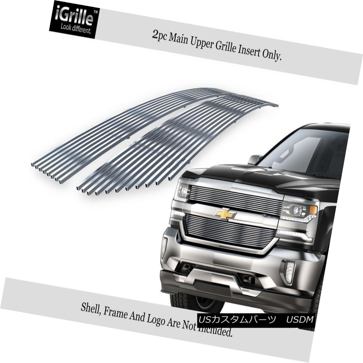 USグリル For 2016-2018 Chevy Silverado 1500 Reg Model Stainless Steel Billet Grille 2016-2018 Chevy Silverado 1500 Regモデルステンレススチールビレットグリル