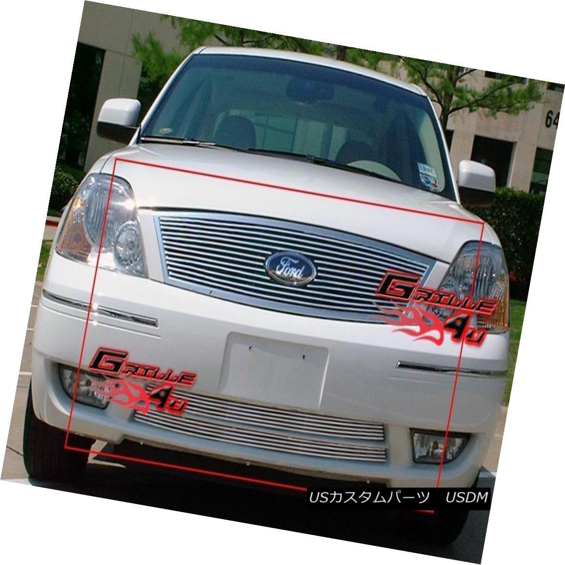 グリル Fits 2005-2007 Ford Five Hundred 500 Billet Grille Combo 2005-2007 Ford Five Hundred 500 Billet Grille Comboに適合