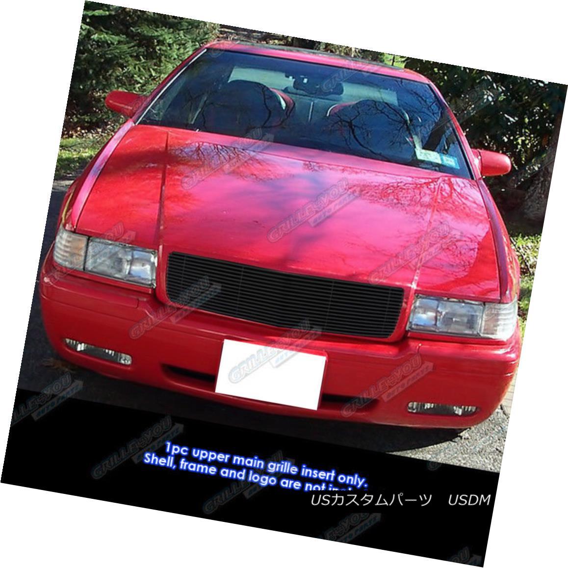 グリル Fits 1995-2002 Cadillac EL Dorado Black Billet Grille Grill Insert フィット1995-2002キャデラックELDoradoブラックビレットグリルグリルインサート